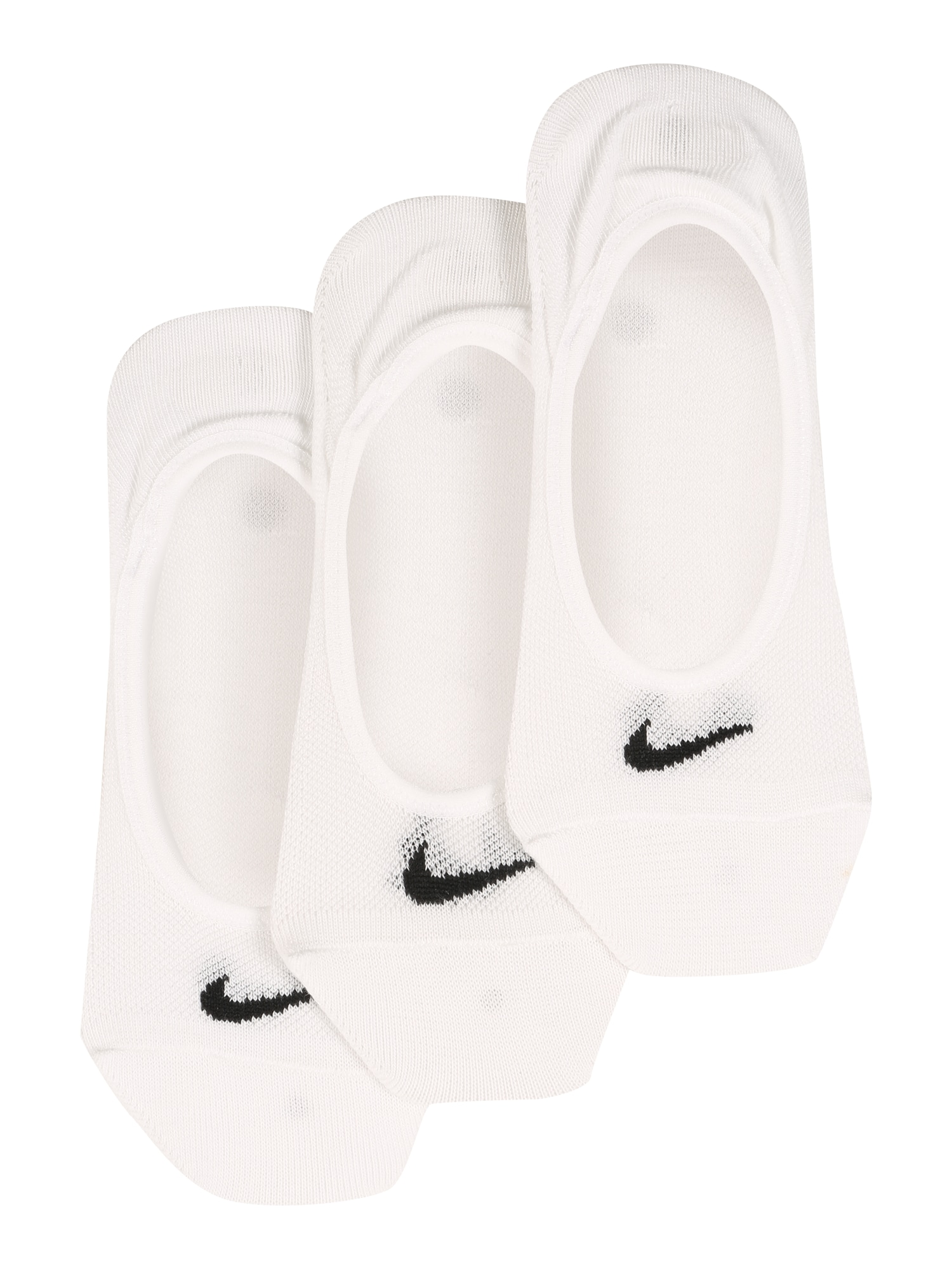Nike Sportswear Ťapky 'Lightweight No-Show'  černá / bílá