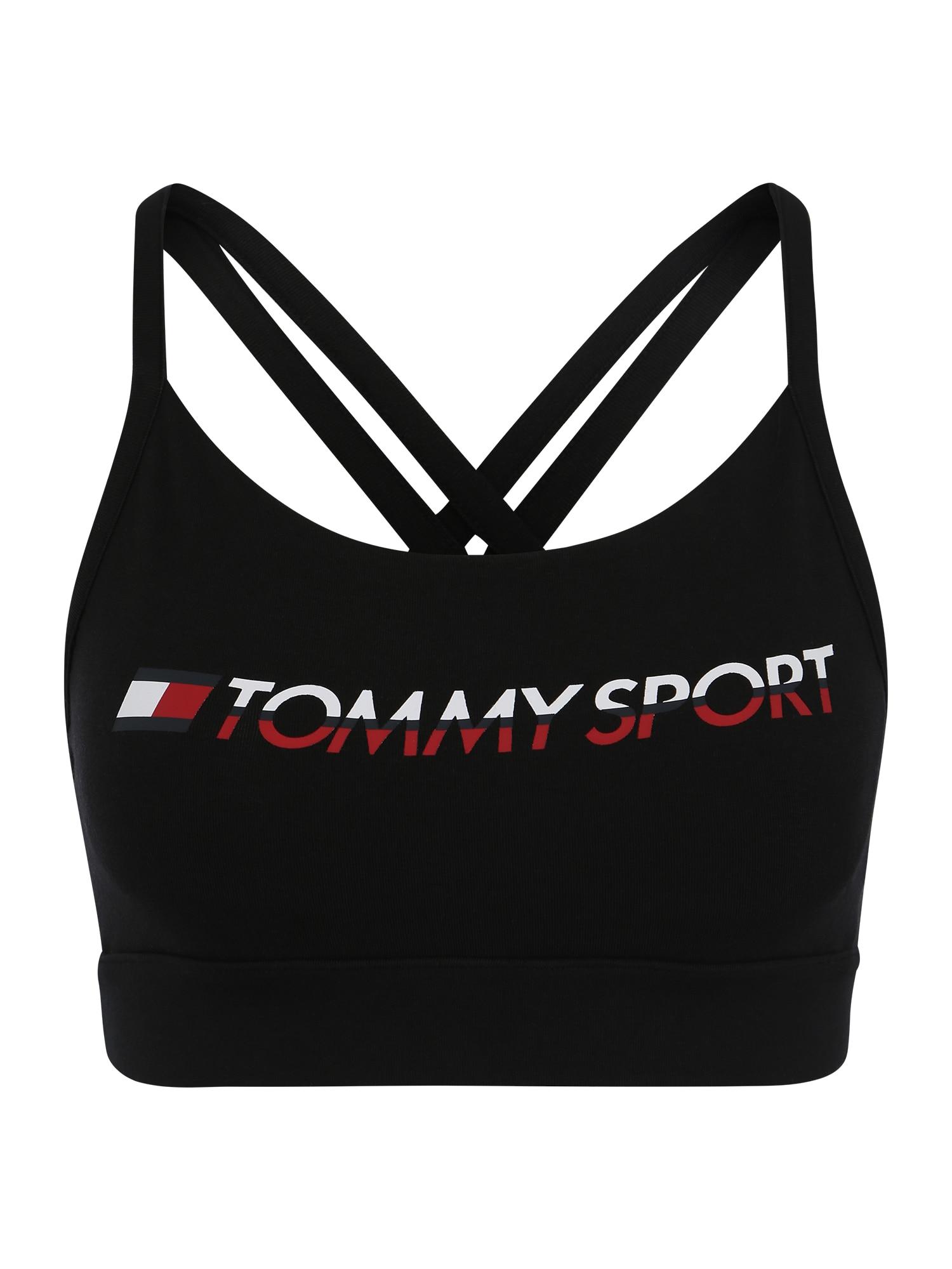 Sportovní podprsenka černá Tommy Sport