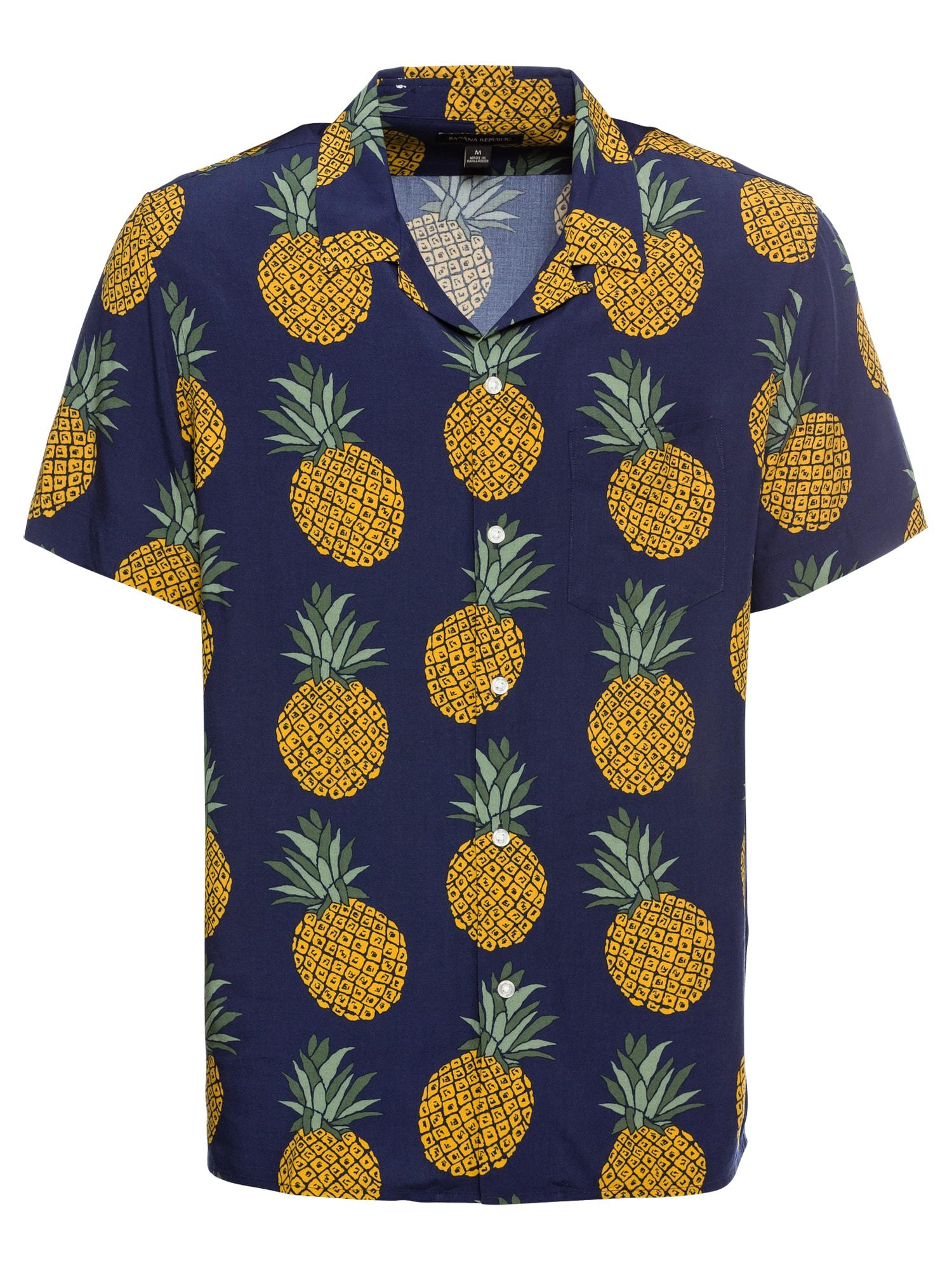 Košile modrá zlatě žlutá Banana Republic