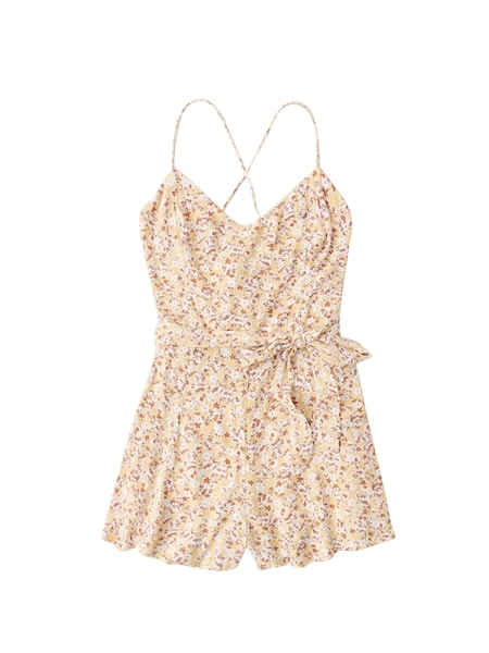 Hosen - Jumpsuit › Abercrombie Fitch › weiß gelb  - Onlineshop ABOUT YOU