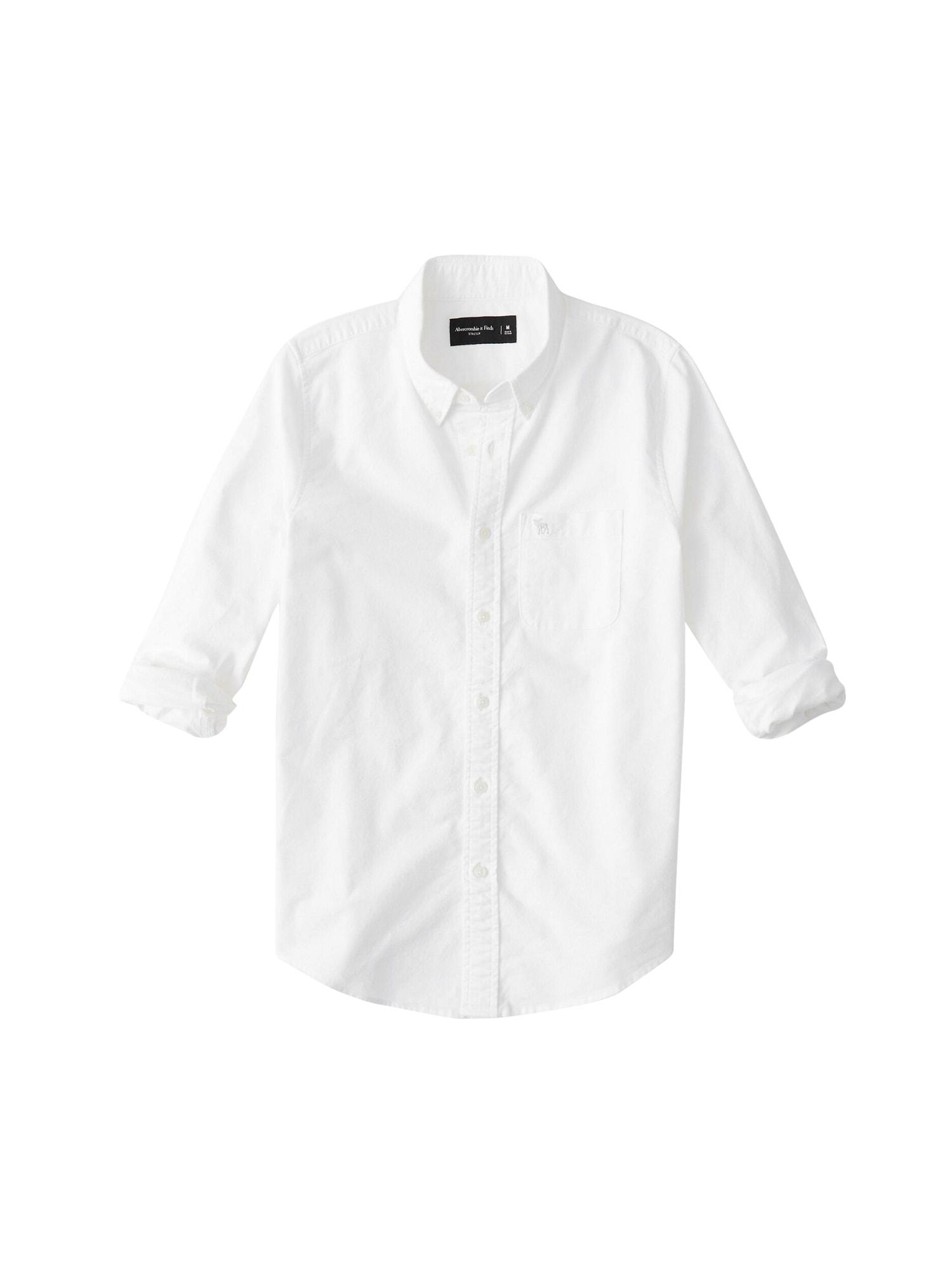 Abercrombie & Fitch Dalykiniai marškiniai 'ICON CORE OXFORD' balta