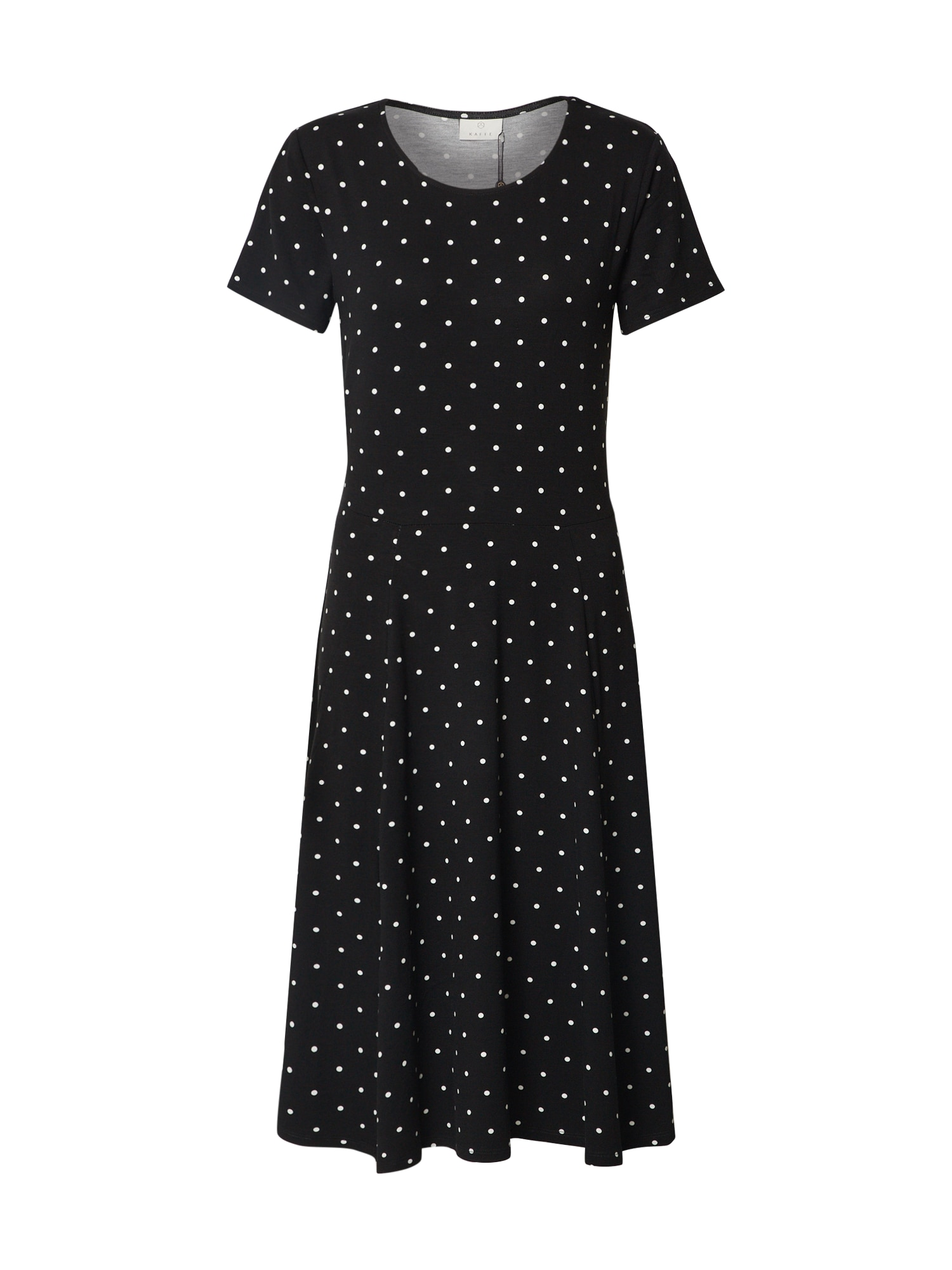 Kaffe Vasarinė suknelė 'KAhazel Jersey Dress' balta / juoda