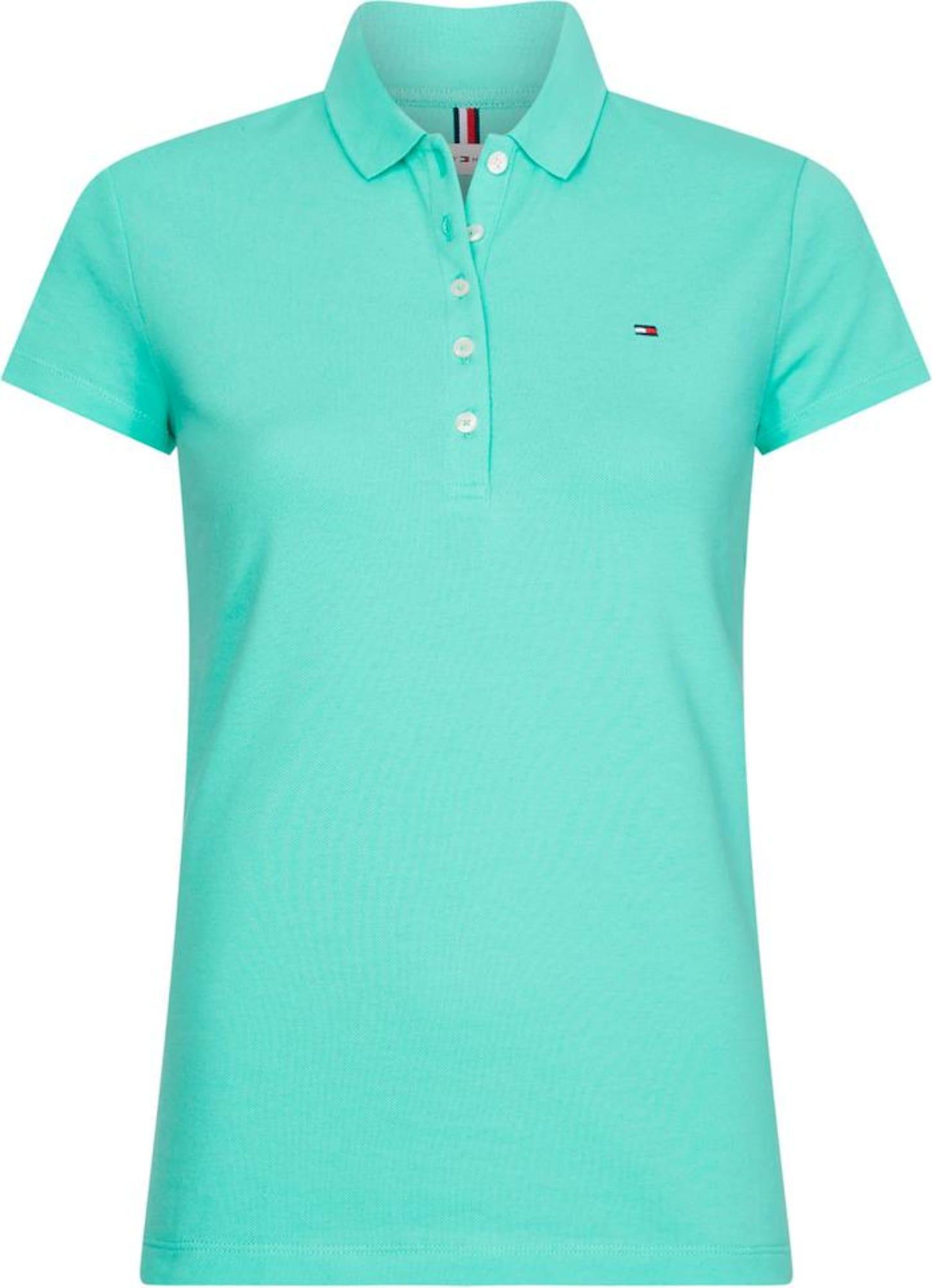 TOMMY HILFIGER Marškinėliai mėtų spalva