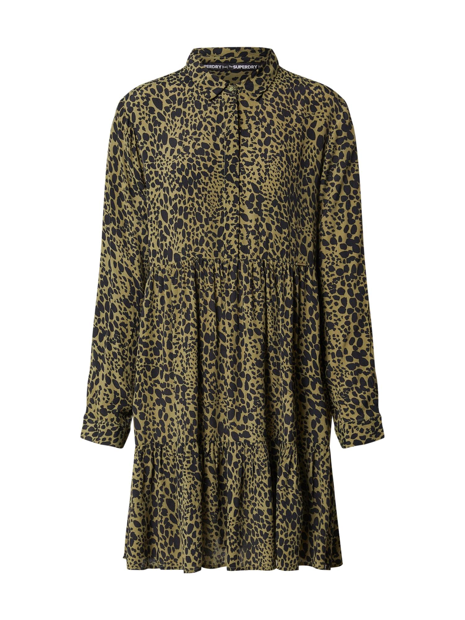 Superdry Košeľové šaty 'SCANDI'  olivová