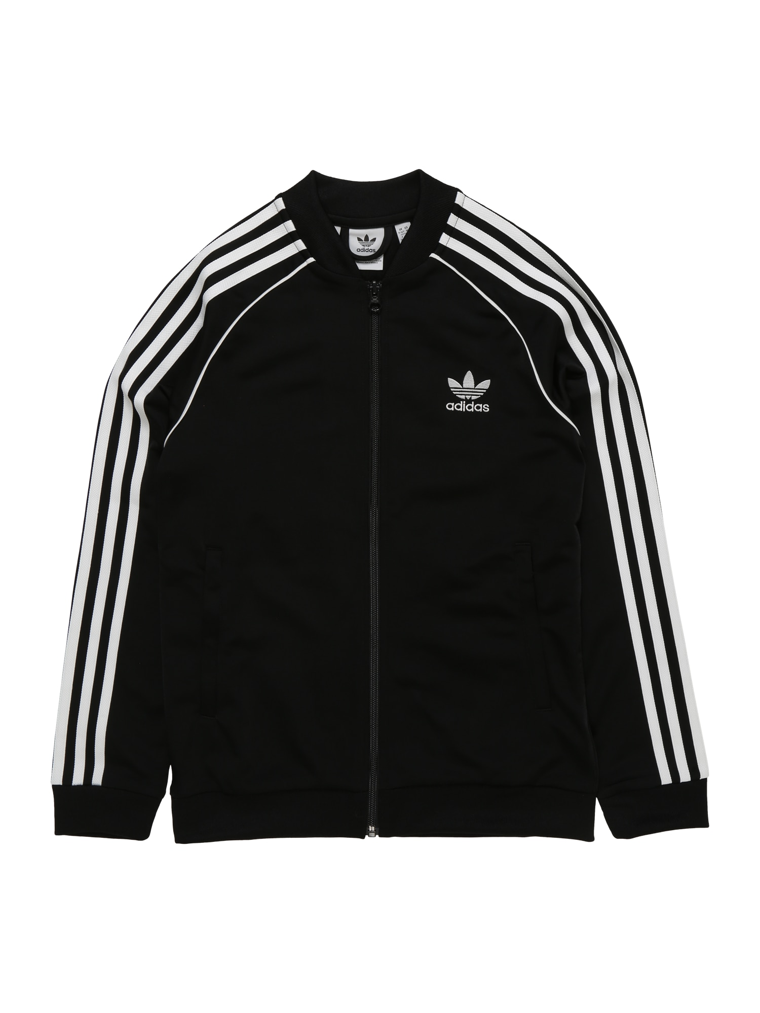 ADIDAS ORIGINALS Demisezoninė striukė 'Superstar Top' juoda / balta