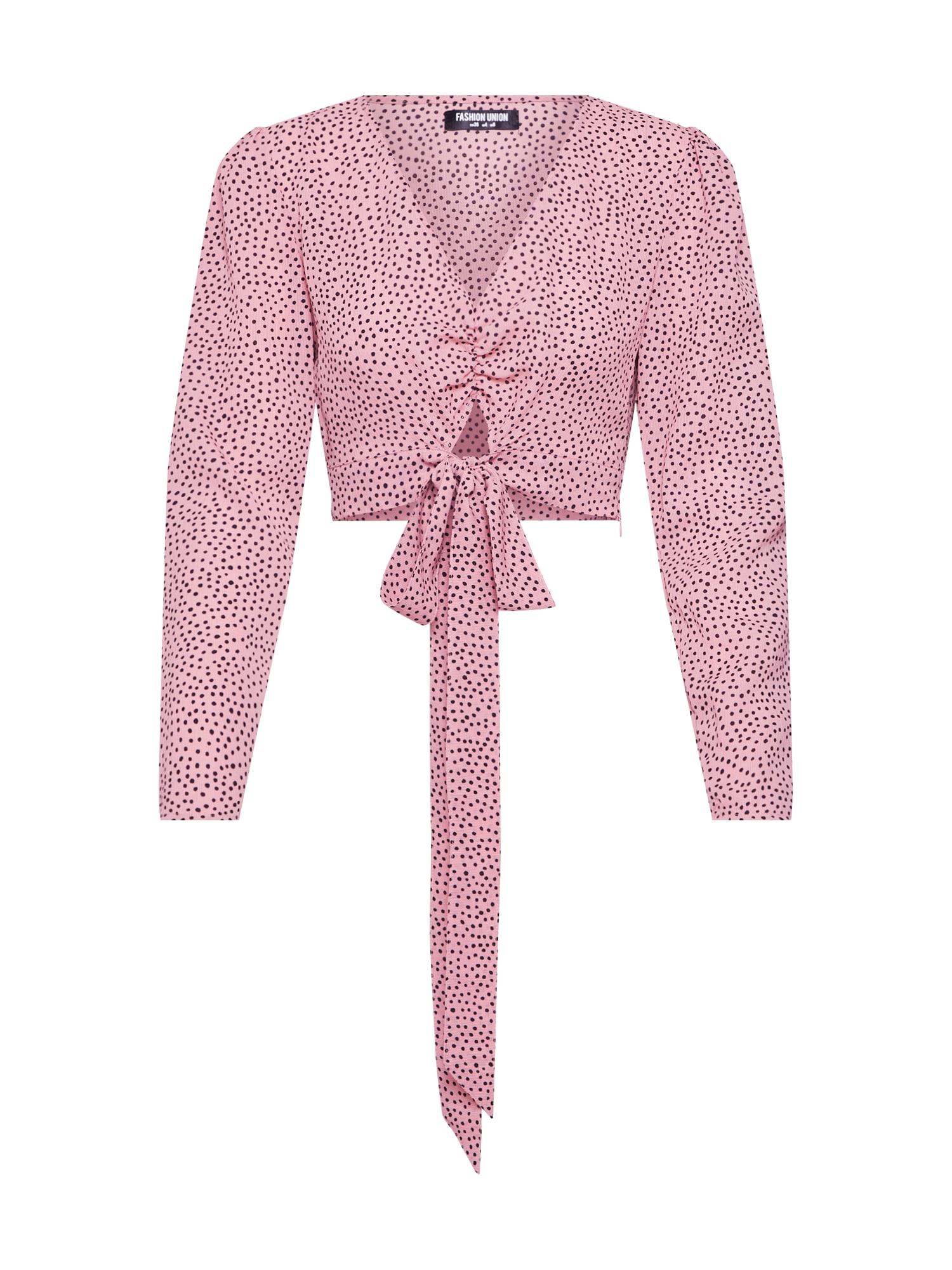 Halenka LAMB růžová burgundská červeň Fashion Union