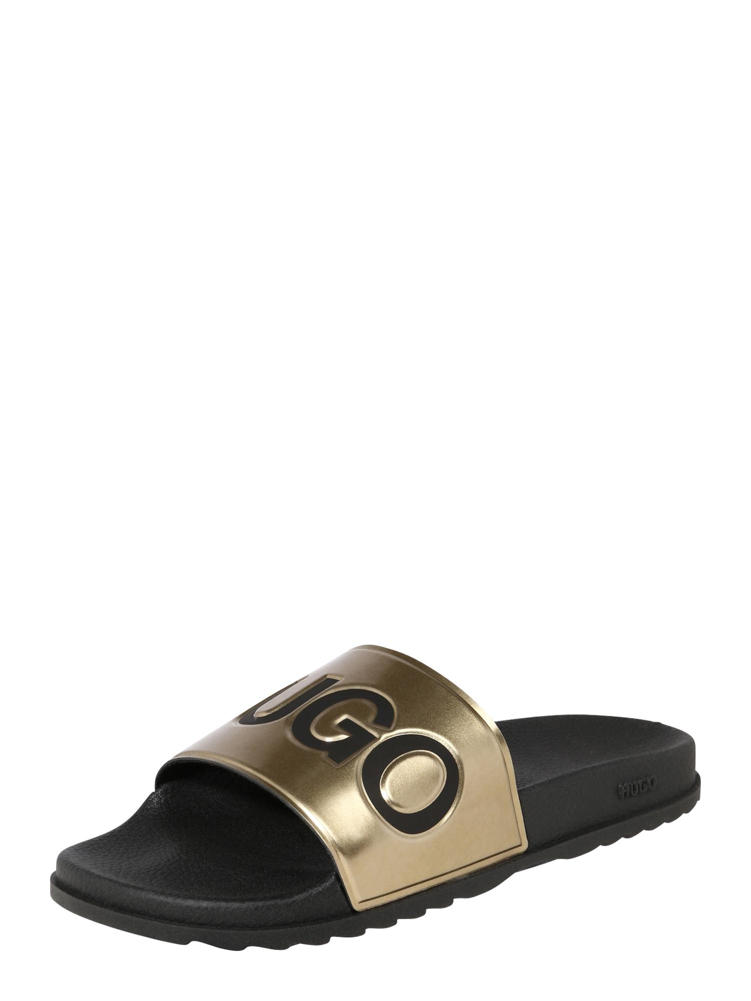 HUGO Pantofle 'Match Slid'  zlatá