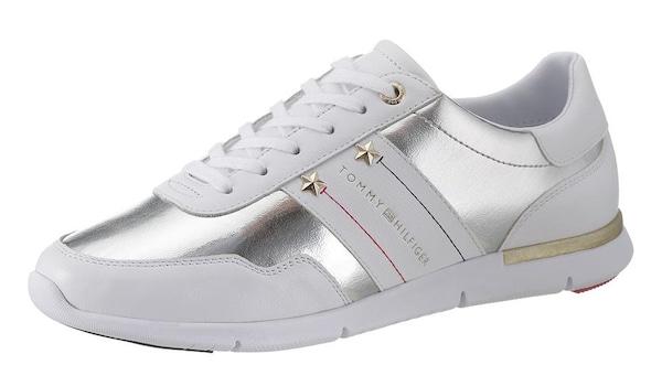 Sneakers für Frauen - Sneaker › Tommy Hilfiger › silber weiß  - Onlineshop ABOUT YOU