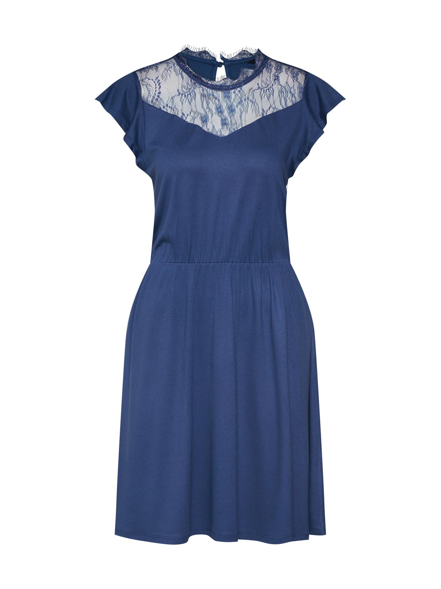 Šaty ONLAMILA CAP SLEEVE DRESS JRS modrá ONLY
