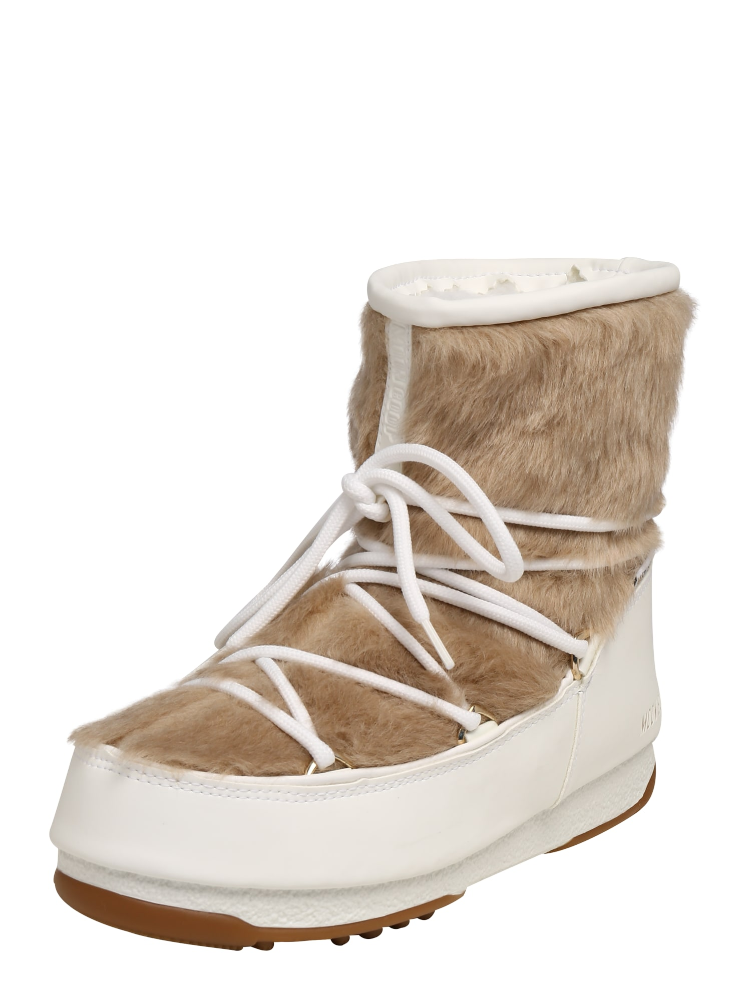 MOON BOOT Sniego batai 'MONACO' smėlio / balta