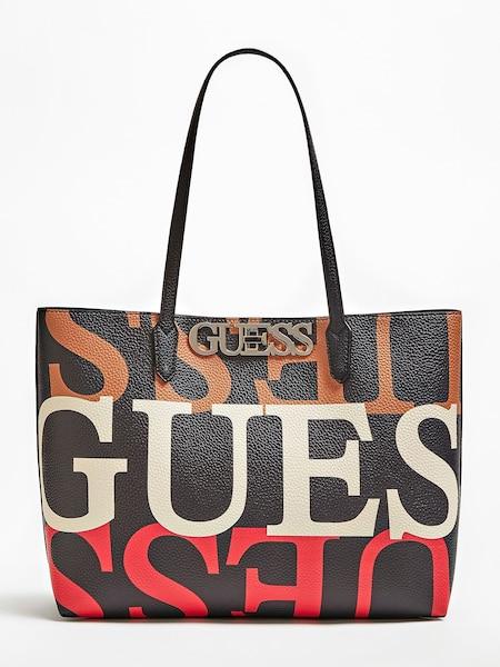 Shopper - Shopper 'Uptown Chic' › Guess › hellbraun rot schwarz weiß  - Onlineshop ABOUT YOU