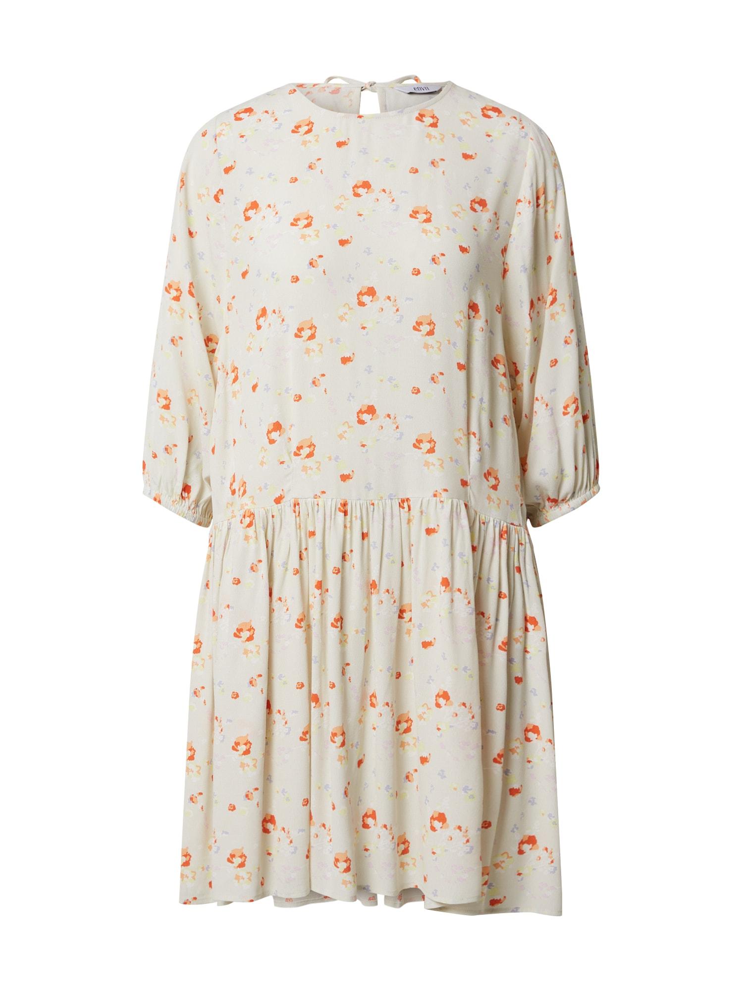 Envii Vasarinė suknelė natūrali balta / persikų spalva