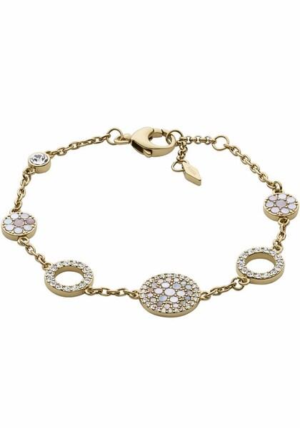 Armbaender für Frauen - FOSSIL Armband 'VINTAGE GLITZ' gold weiß  - Onlineshop ABOUT YOU