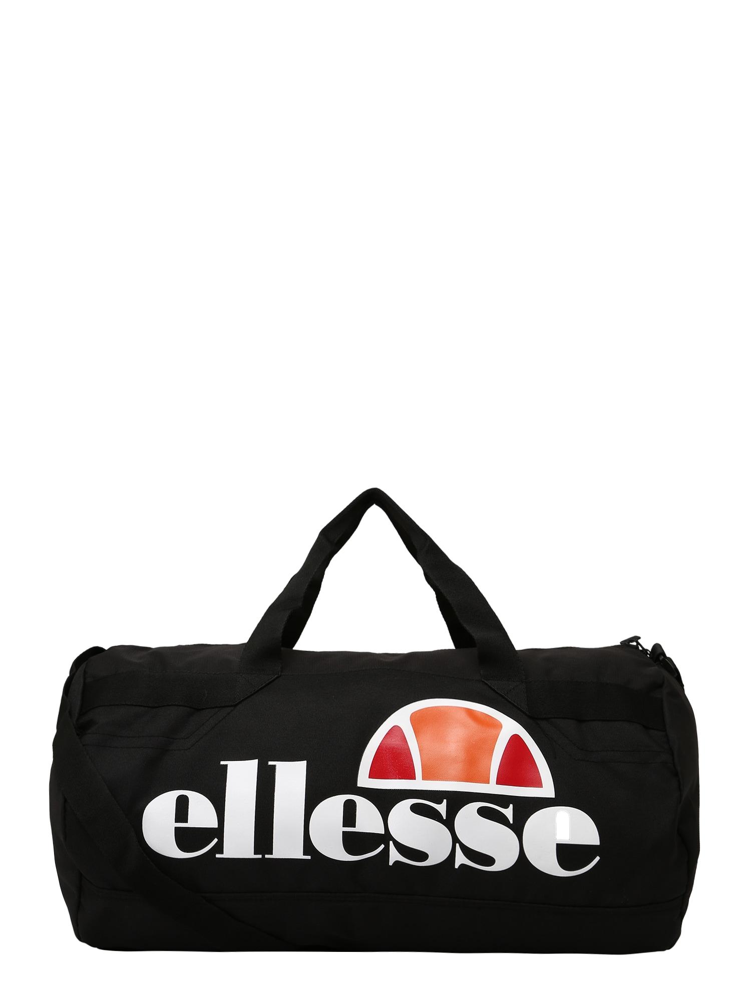 ELLESSE Kelioninis krepšys 'Pelba' juoda / balta / oranžinė