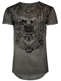 trueprodigy Herren T-Shirt Maori Skull Tattoo grau,schwarz | 04057124013955