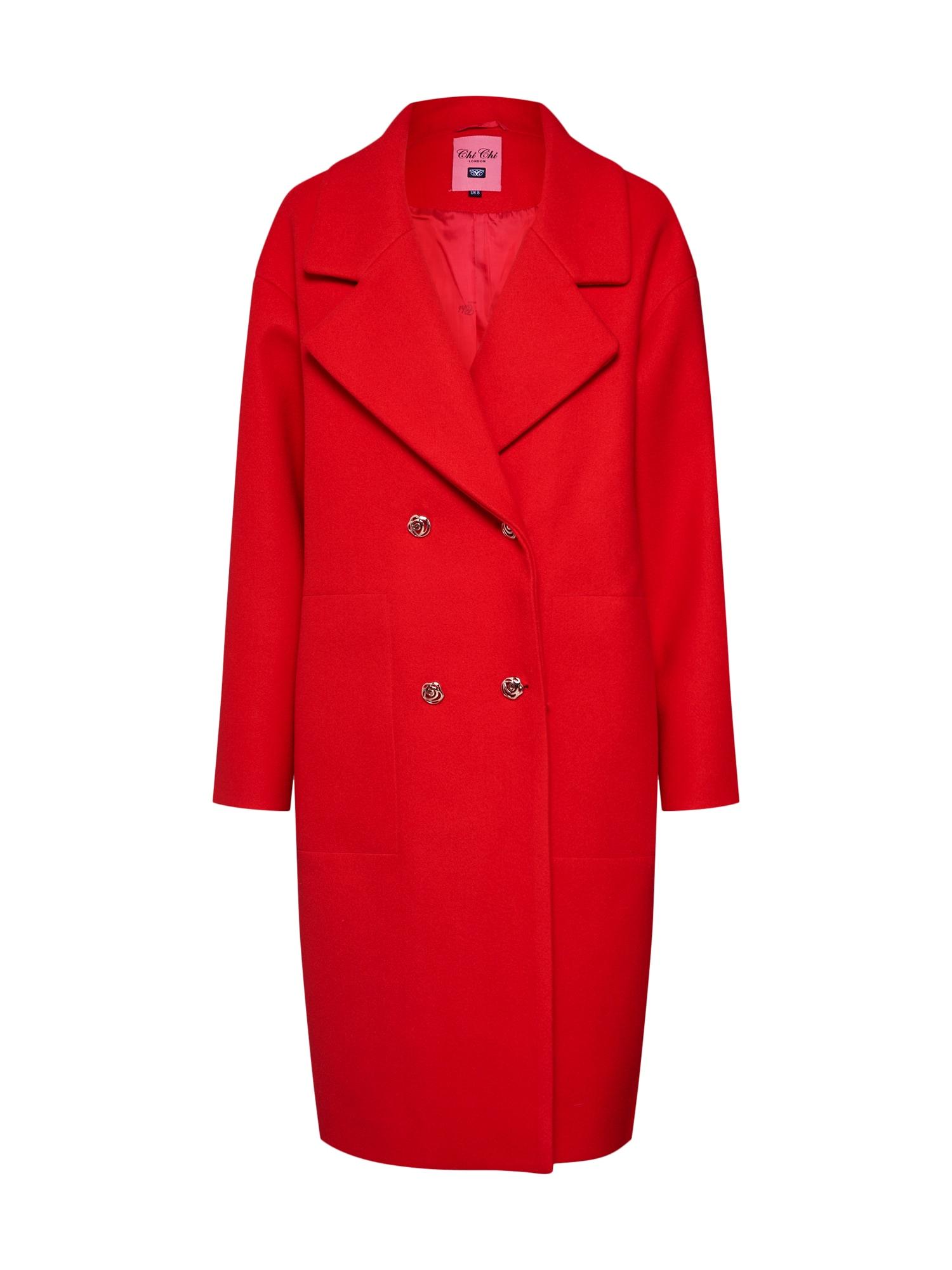 Přechodný kabát červená Chi Chi London