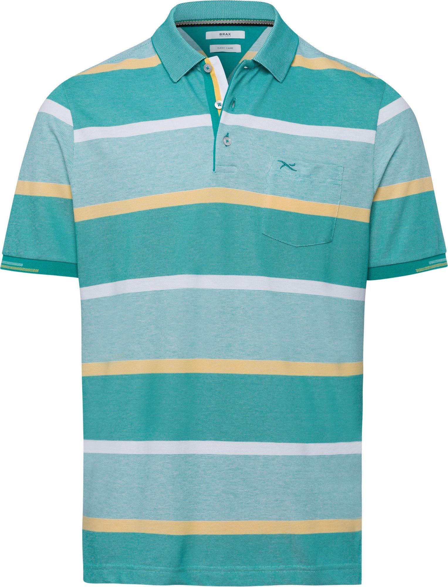 BRAX Marškinėliai 'Paco' pastelinė žalia / pastelinė geltona / nefrito spalva