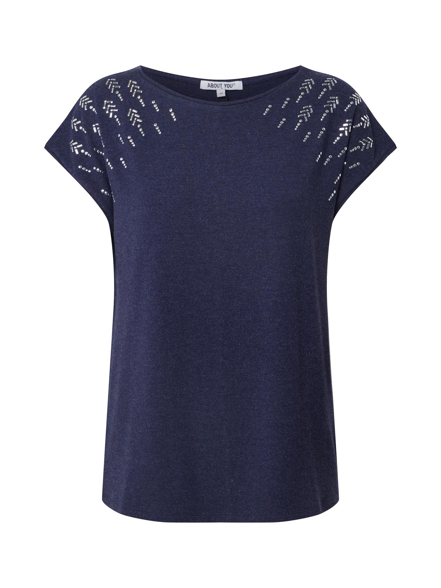 ABOUT YOU Marškinėliai 'Delia' tamsiai mėlyna / tamsiai mėlyna
