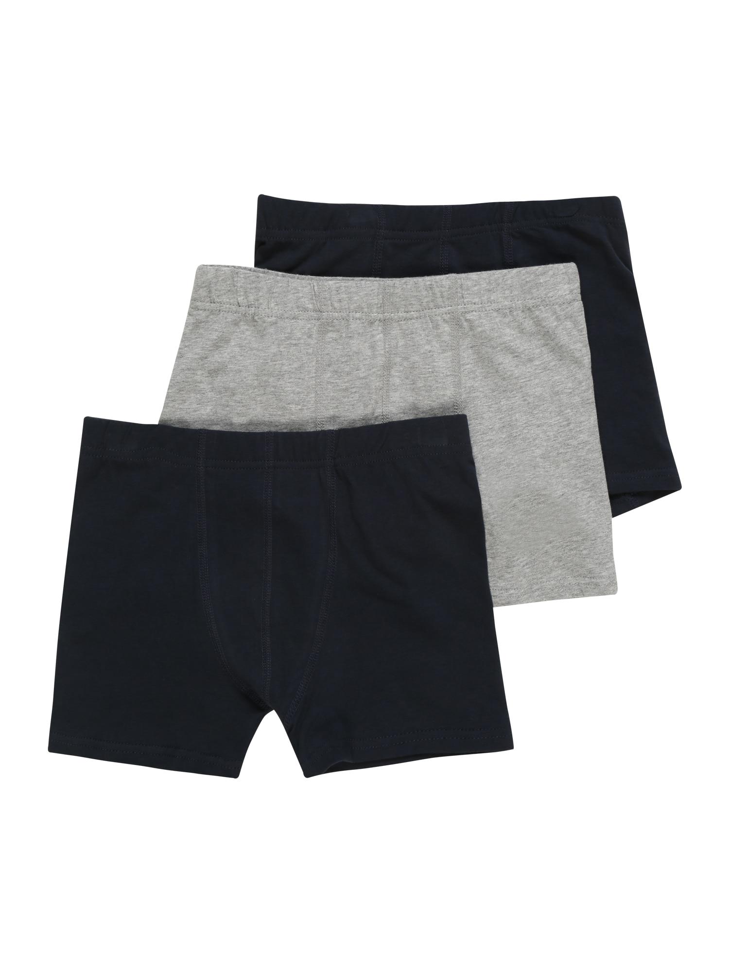 Spodní prádlo TIGHTS 3P SOLID GREY šedý melír NAME IT