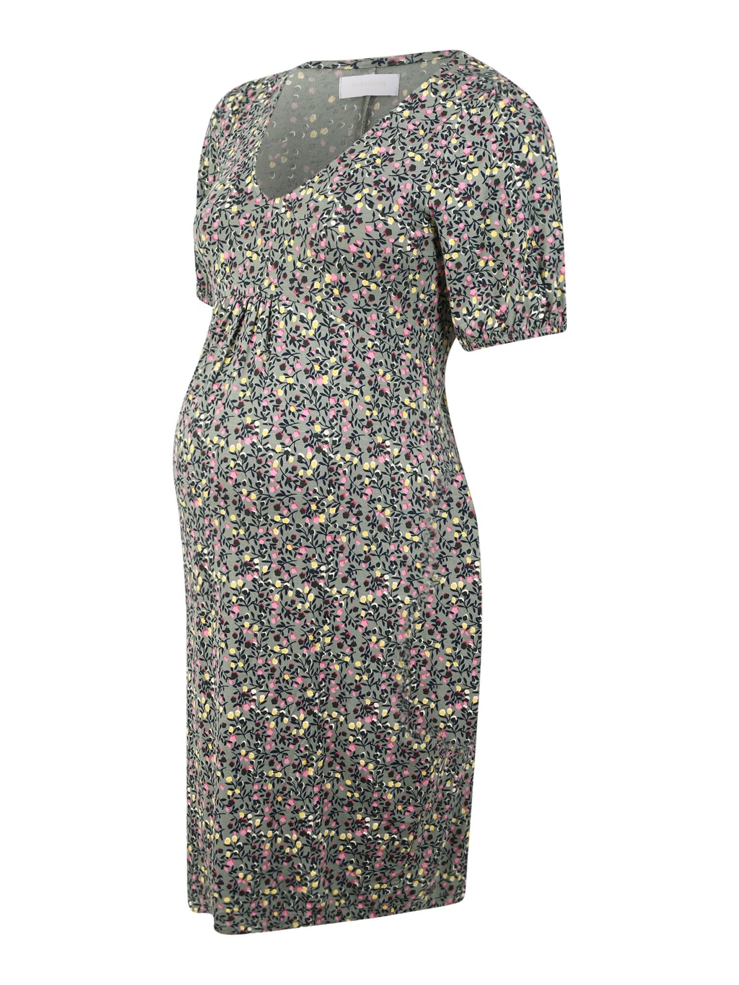 MAMALICIOUS Suknelė alyvuogių spalva / mišrios spalvos