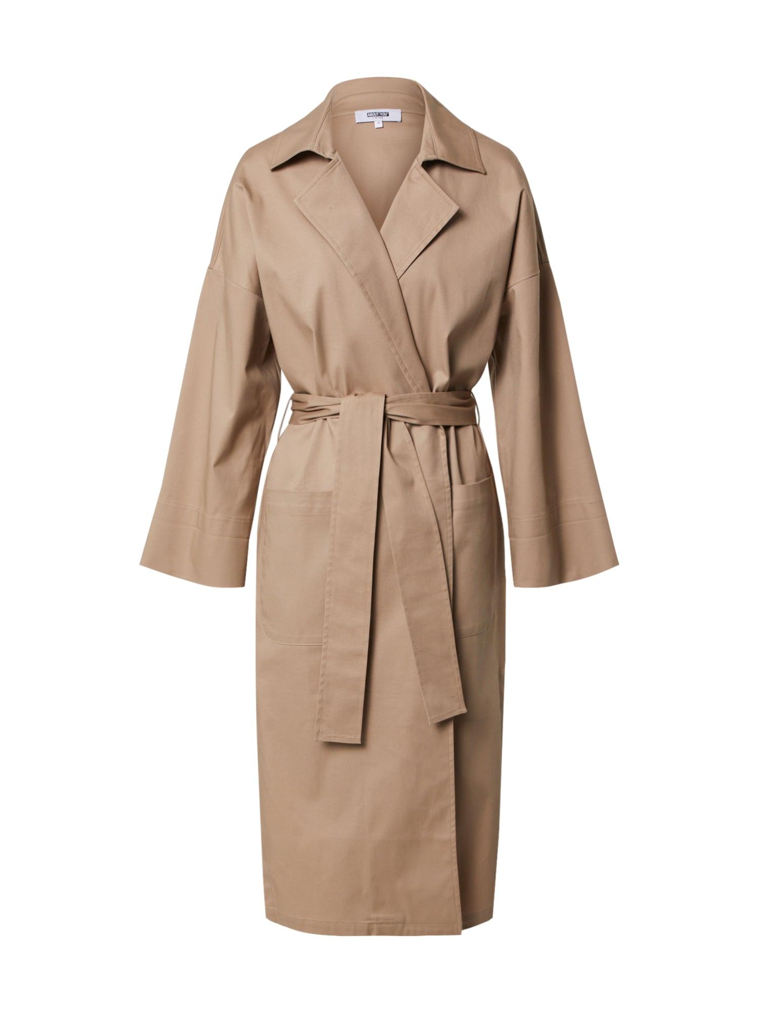ABOUT YOU Limited Rudeninis-žieminis paltas 'Nadja' smėlio