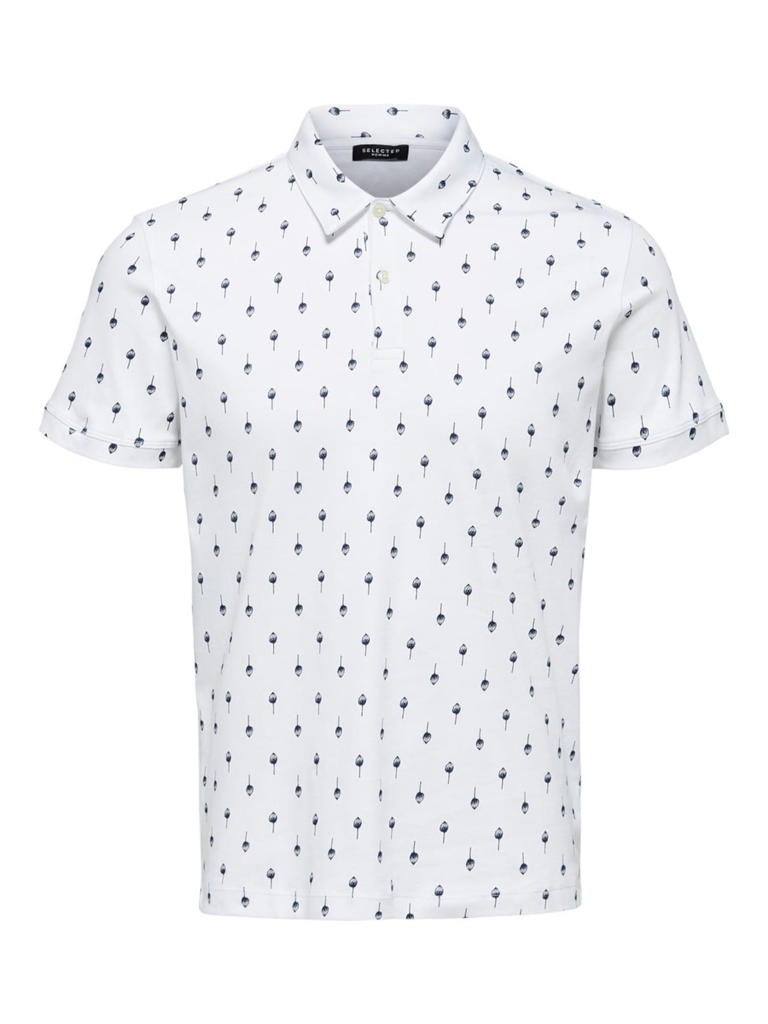 SELECTED HOMME Tričko  biela / modré