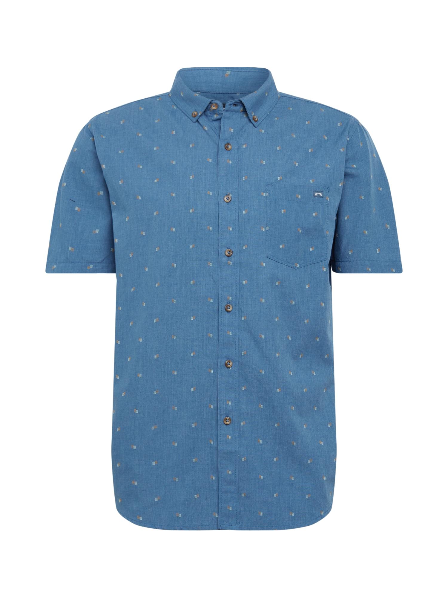 BILLABONG Dalykiniai marškiniai 'ALL DAY JACQUARD' mėlyna