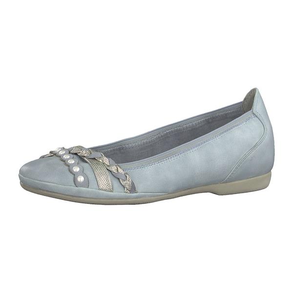 Ballerinas für Frauen - MARCO TOZZI Ballerinas hellblau silber weiß  - Onlineshop ABOUT YOU