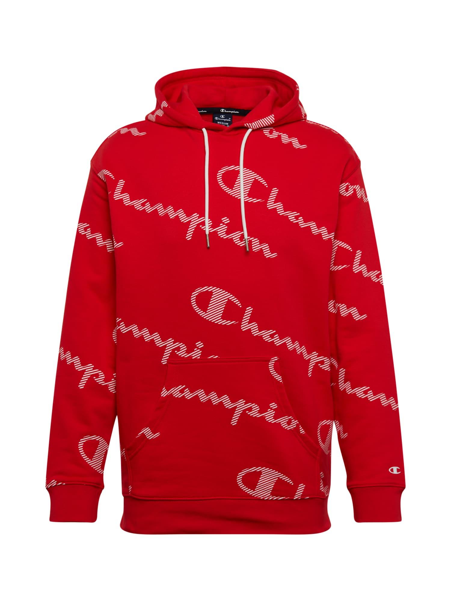 Champion Authentic Athletic Apparel Megztinis be užsegimo balta / raudona