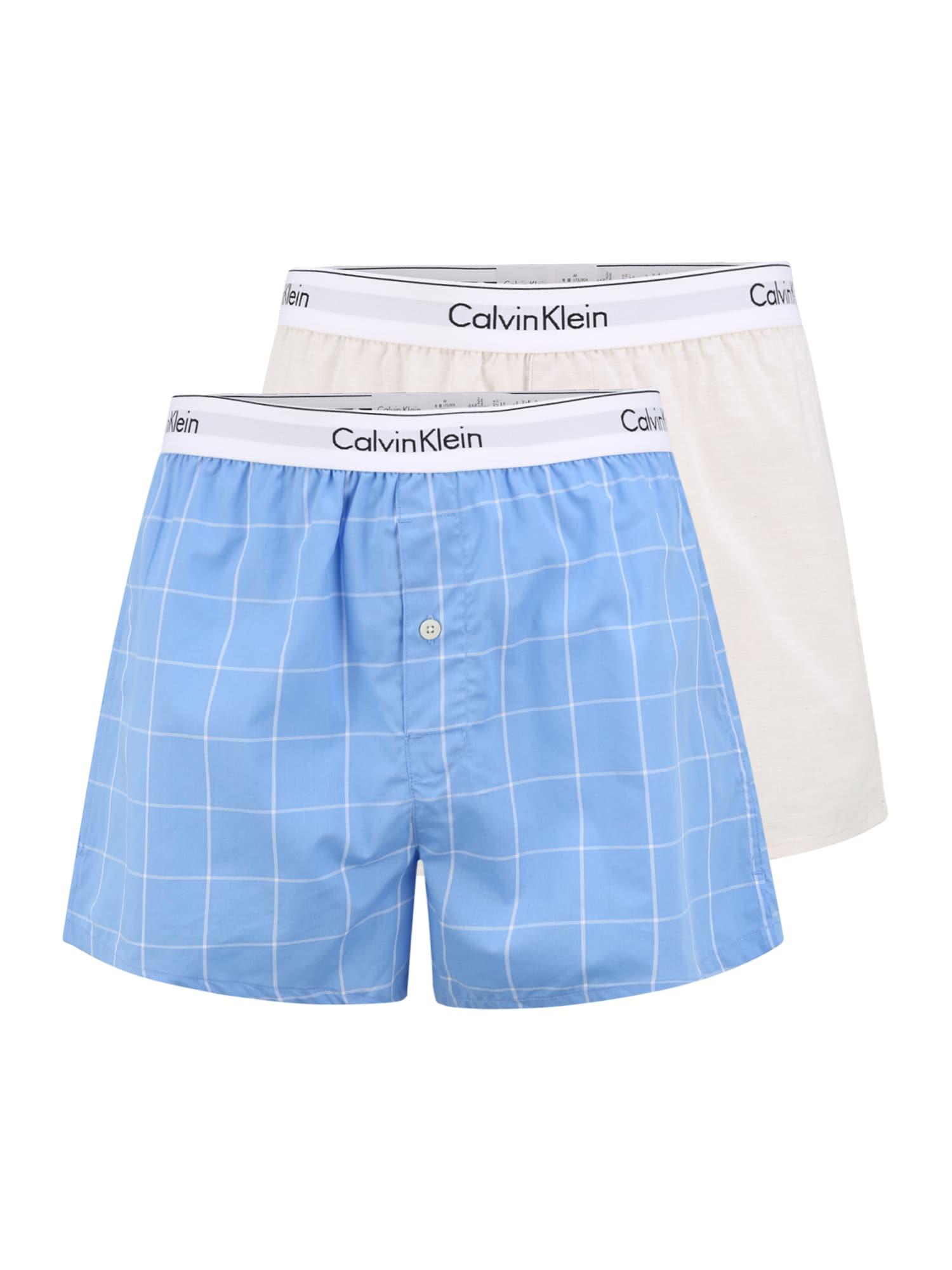 Calvin Klein Underwear Boxer trumpikės mėlyna / balta