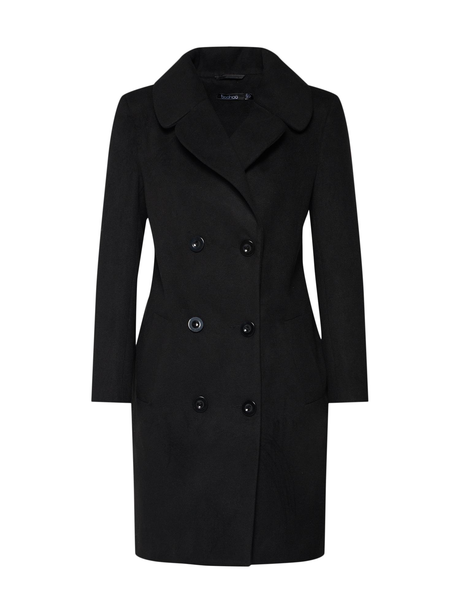 Přechodný kabát černá Boohoo