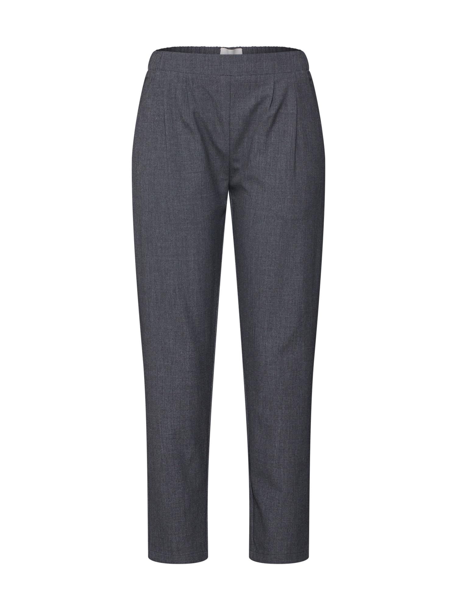 Kalhoty se sklady v pase Sofja tmavě šedá Minimum