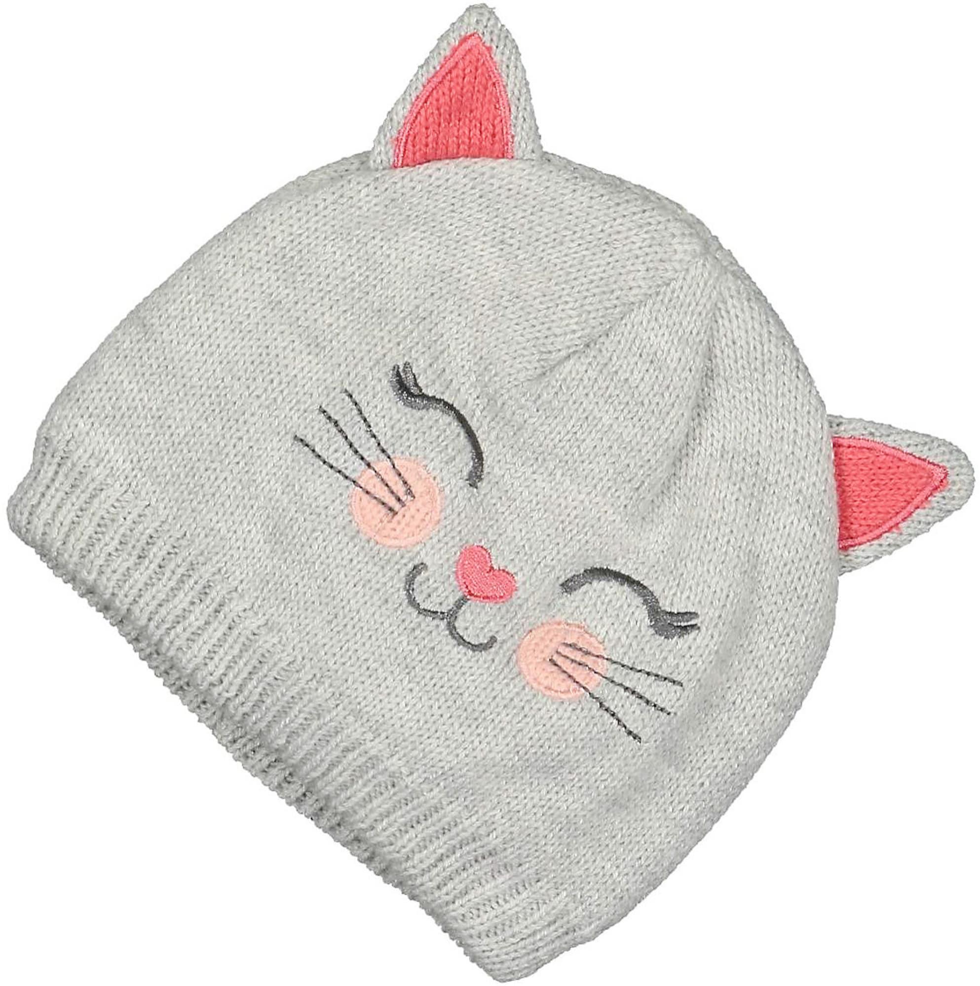 BLUE SEVEN Megzta kepurė pilka / rožinė / tamsiai pilka / persikų spalva