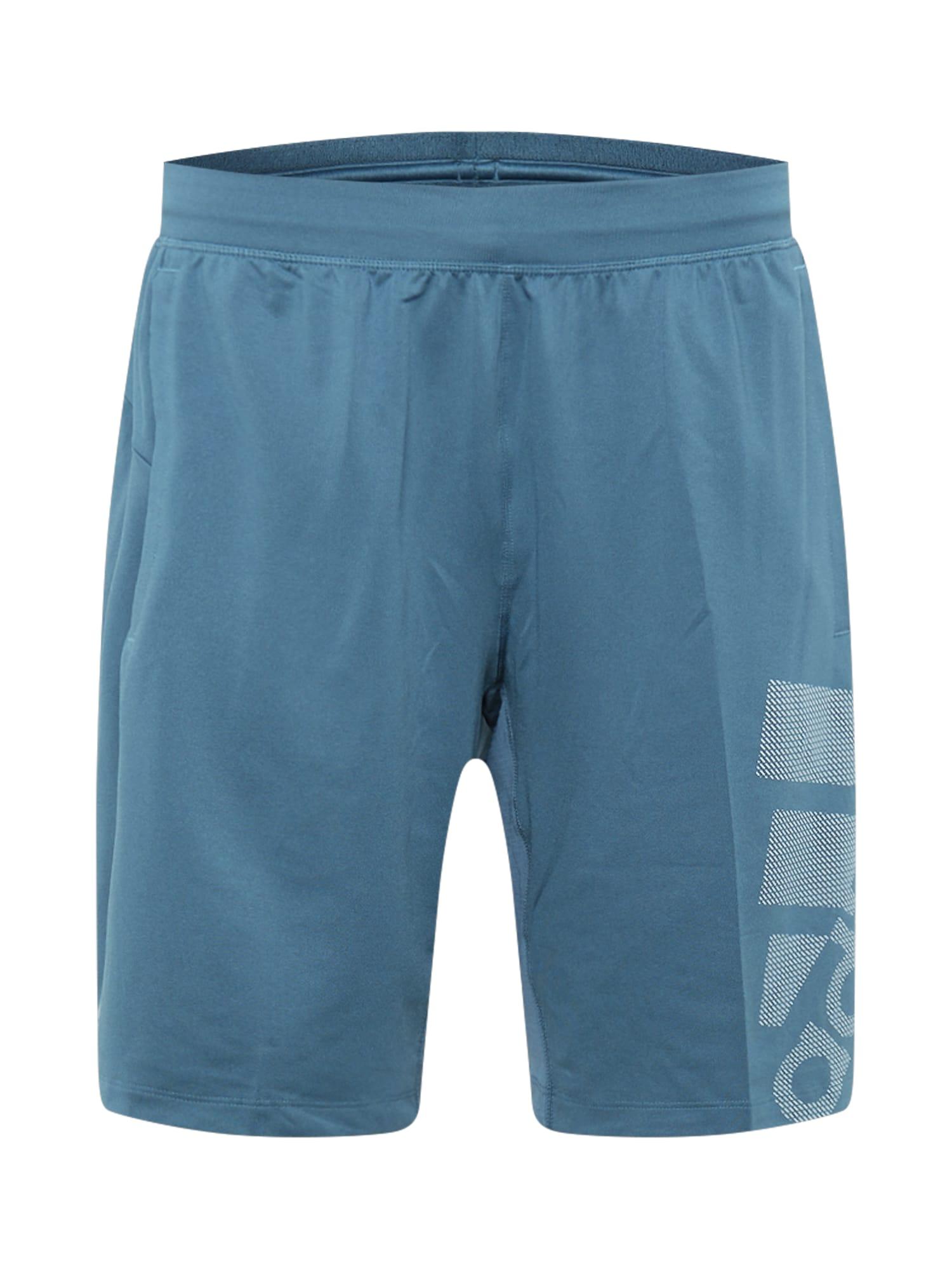 ADIDAS PERFORMANCE Sportinės kelnės mėlyna dūmų spalva / balta