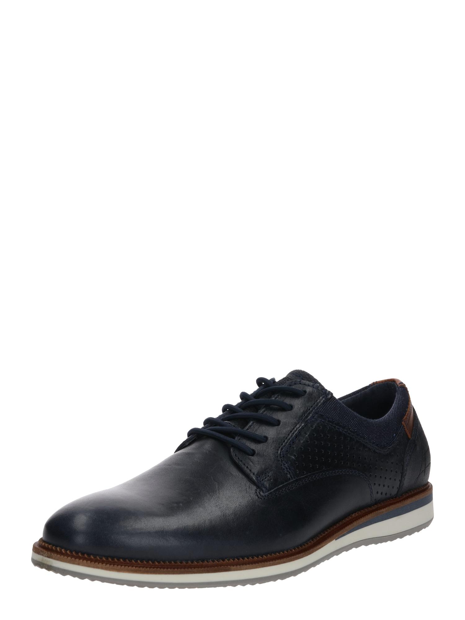 BULLBOXER Sportinio stiliaus batai su raišteliais kobalto mėlyna