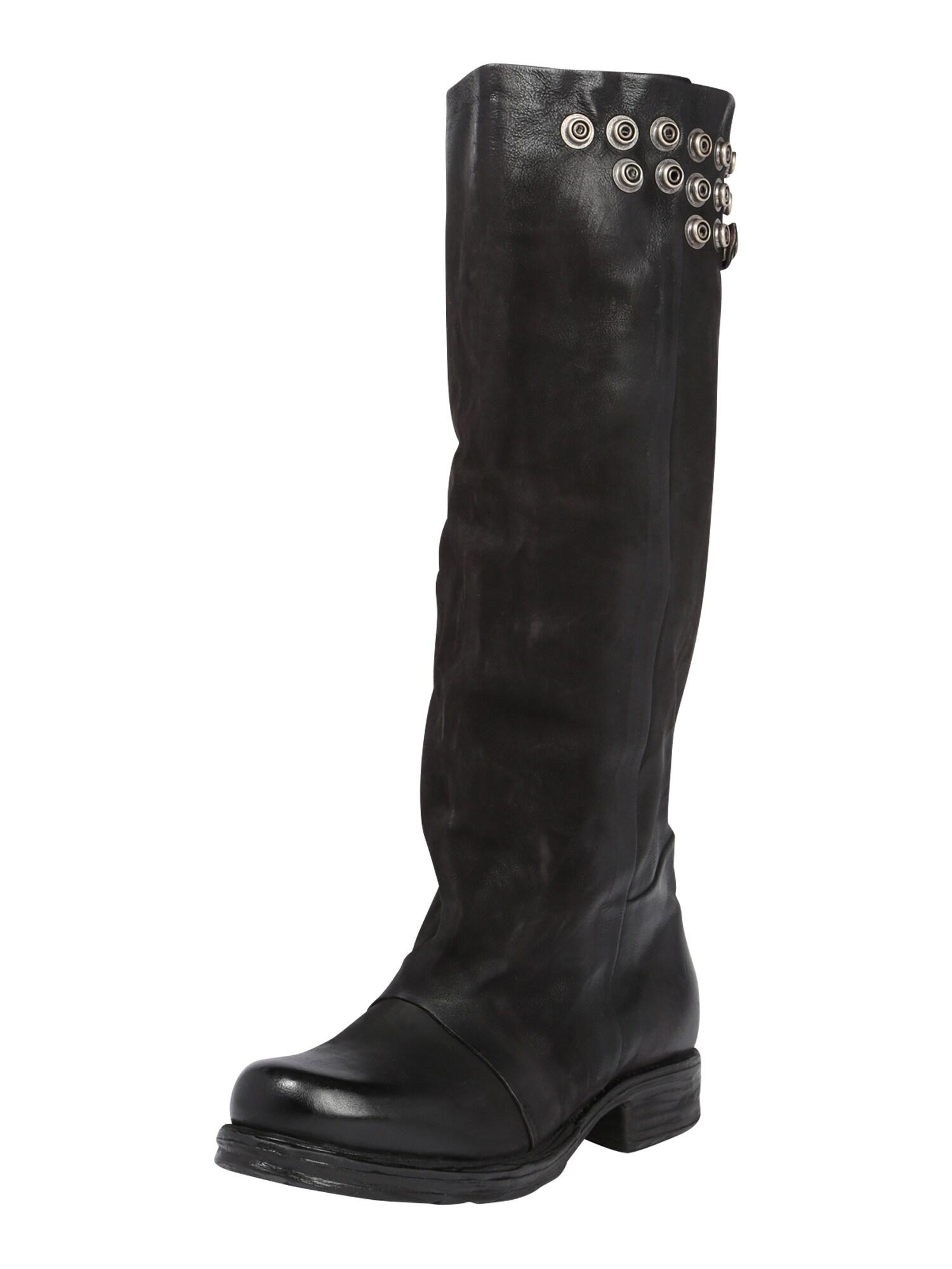 A.S.98 Auliniai batai su kulniuku 'Saintec' juoda / sidabras