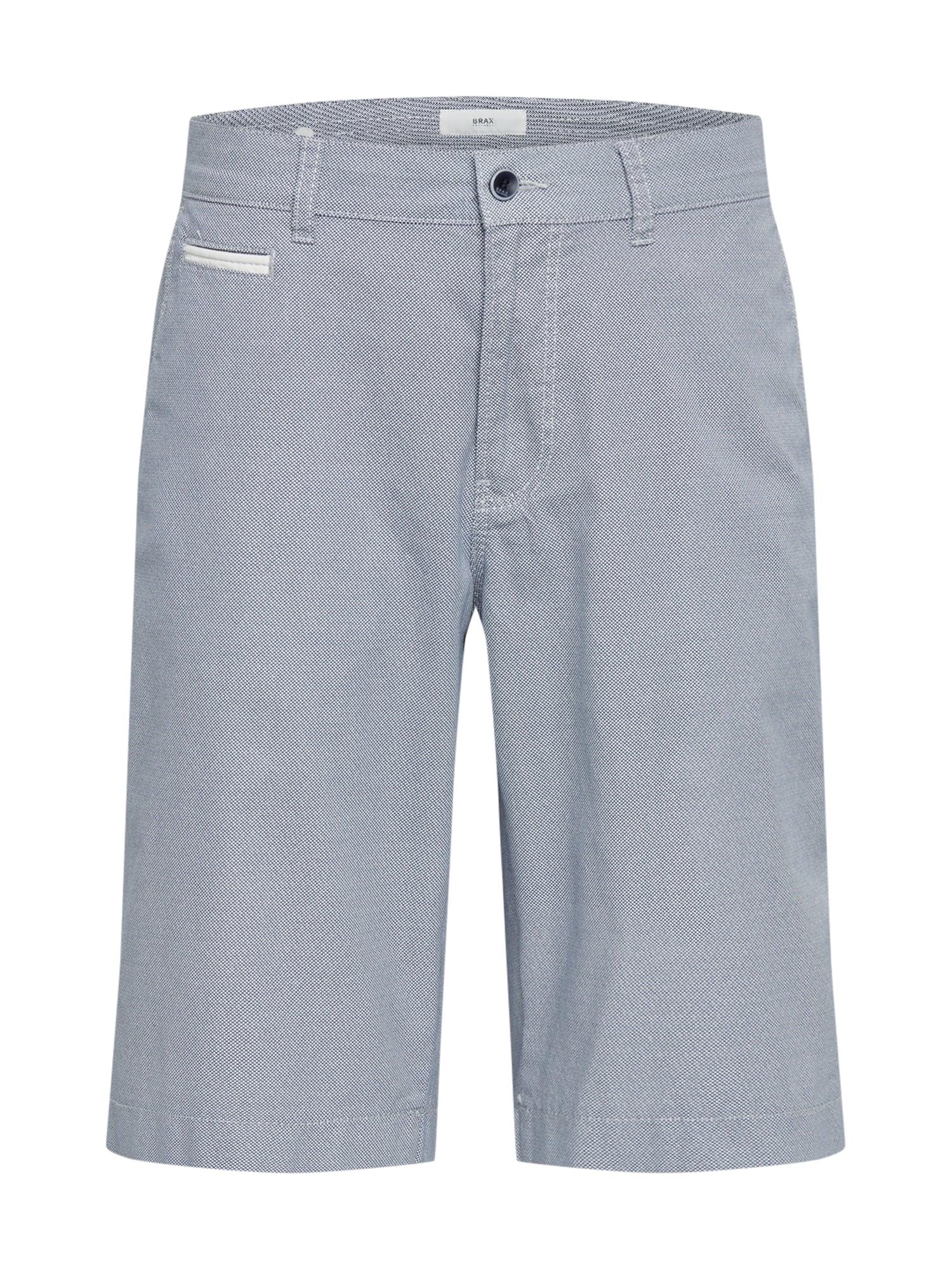BRAX Chino stiliaus kelnės 'Bari C' balta / melsvai pilka
