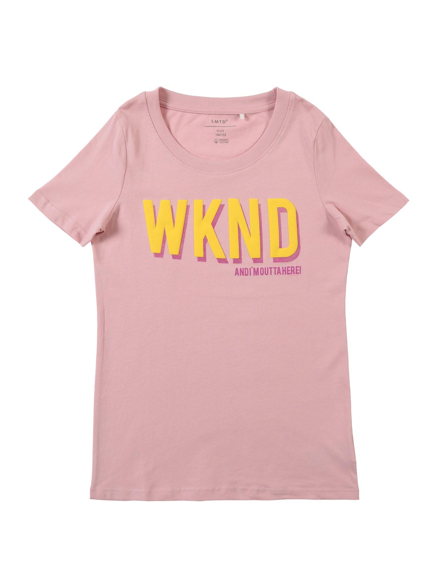 Tričko žlutá pink růžová NAME IT