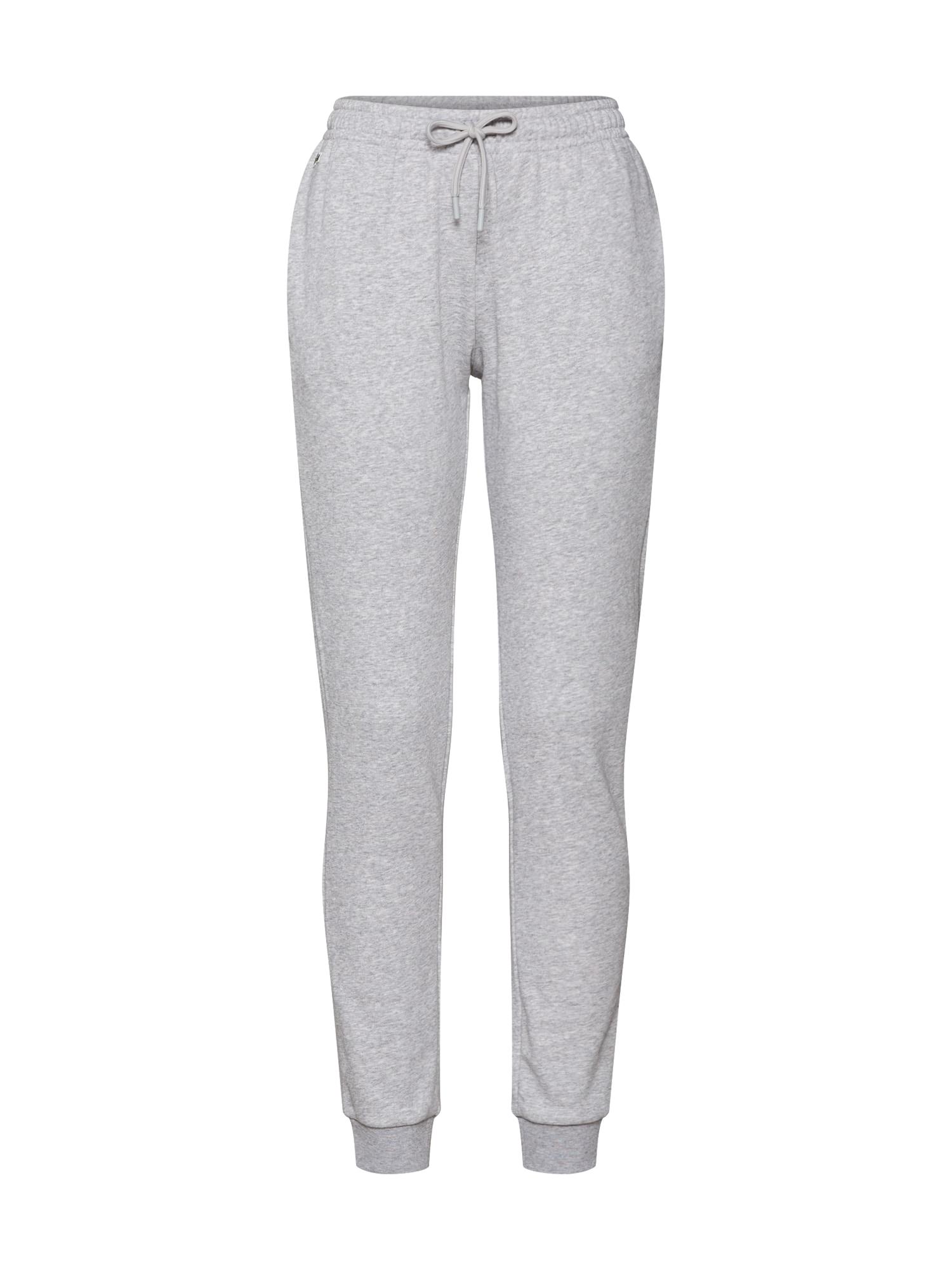 Kalhoty šedý melír LACOSTE