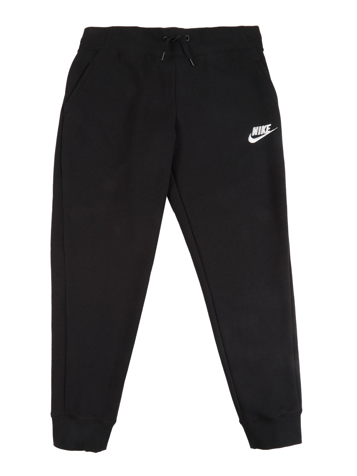 Nike Sportswear Kelnės juoda / balta