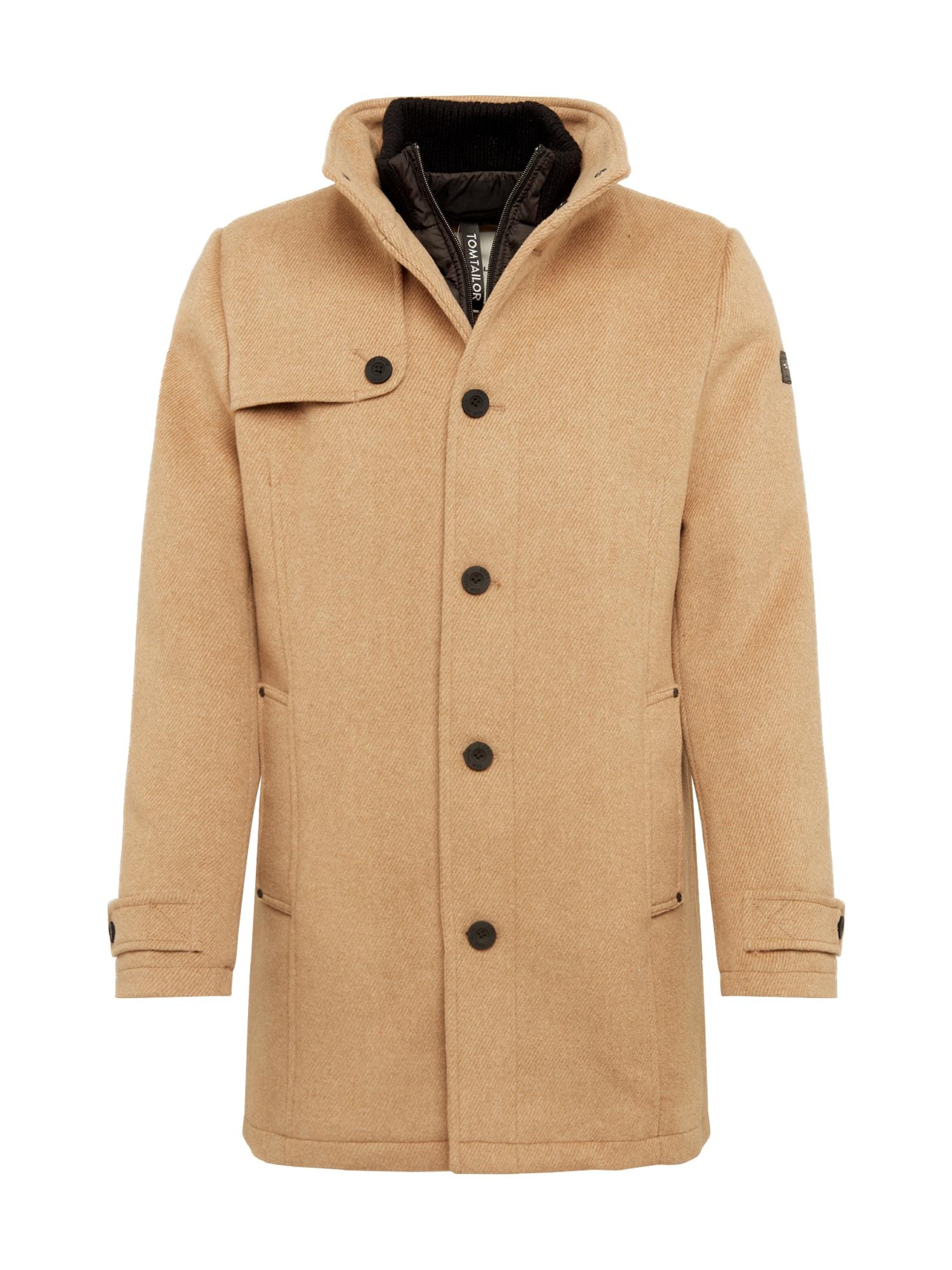 TOM TAILOR Žieminis paltas šviesiai ruda