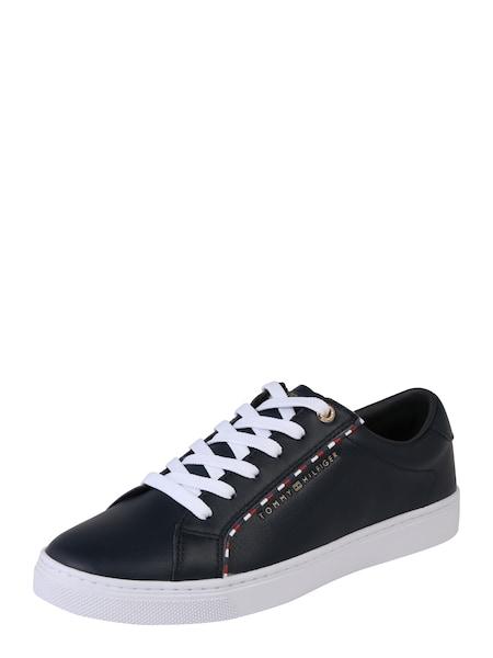 Sneakers für Frauen - Sneaker 'CORPORATE DETAIL SNEAKER' › Tommy Hilfiger › dunkelblau weiß  - Onlineshop ABOUT YOU