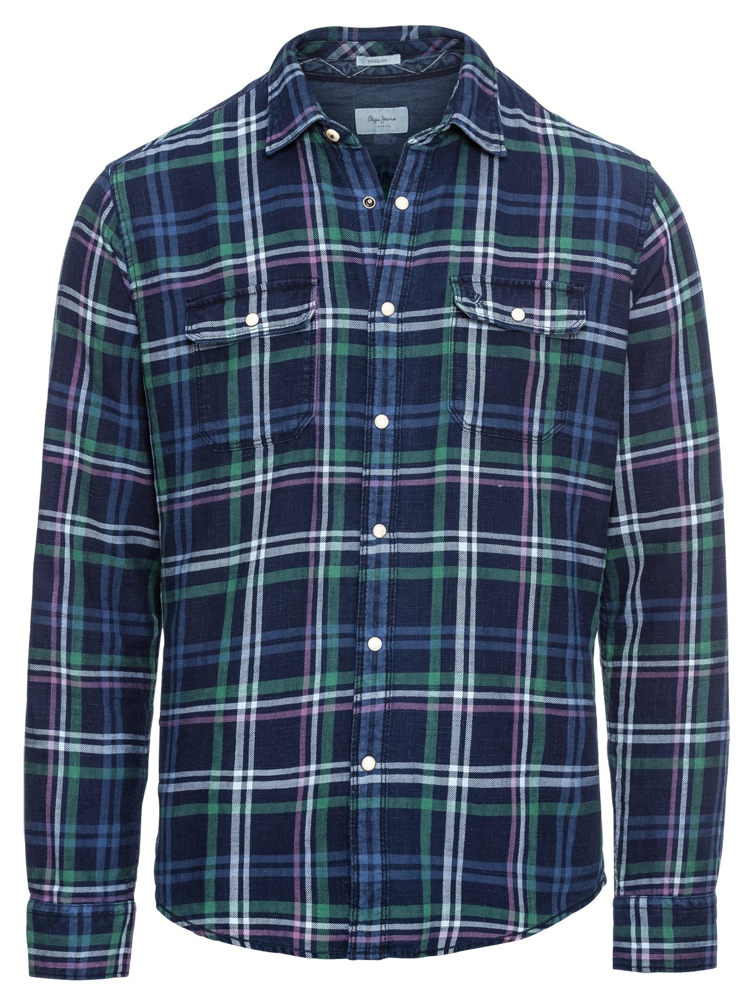Košile CLIFFORD modrá zelená Pepe Jeans