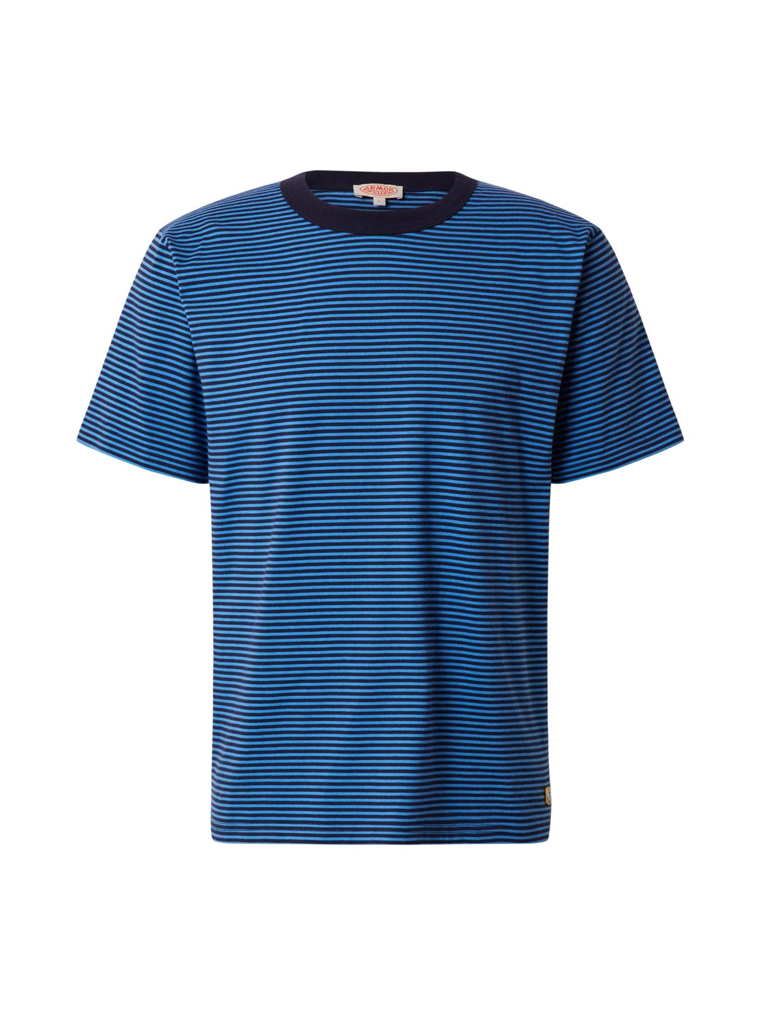Armor Lux Marškinėliai 'MC Rayé Héritage' mėlyna / tamsiai mėlyna