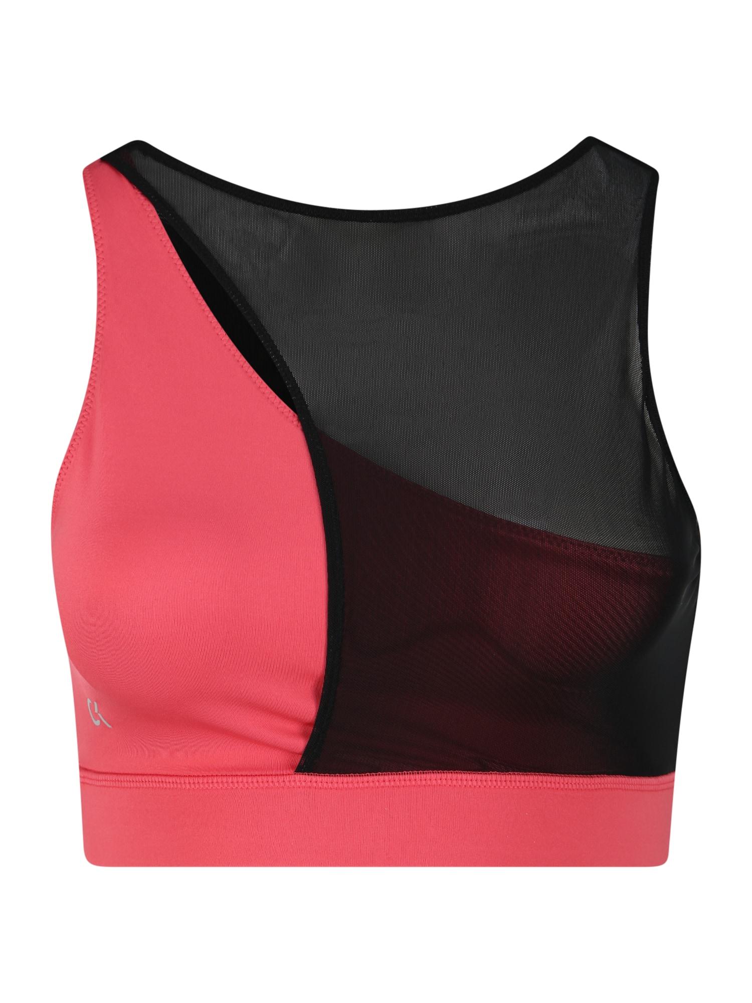 Calvin Klein Performance Sportinė liemenėlė juoda / raudona