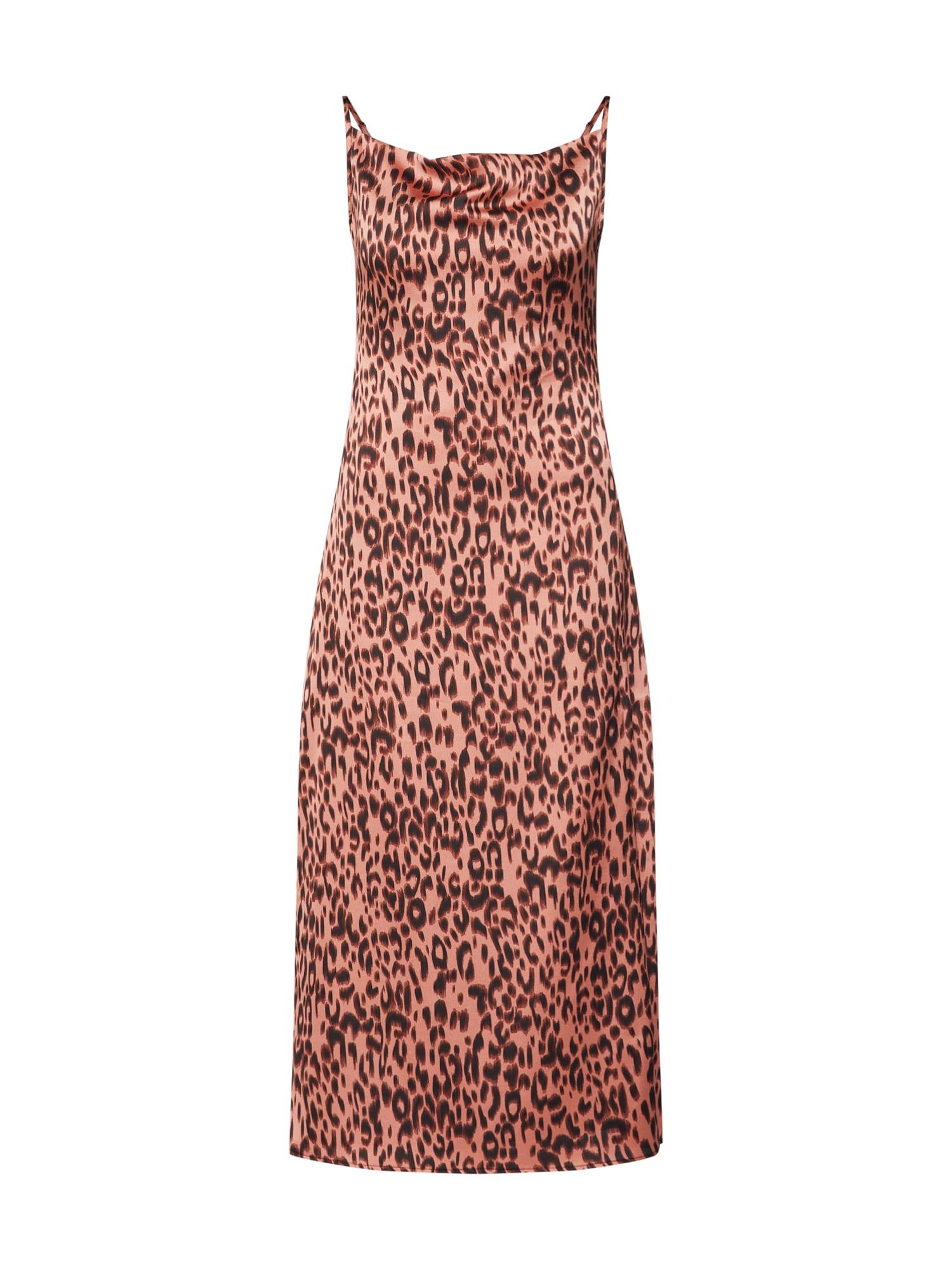 Společenské šaty LADIES DRESS pink černá GLAMOROUS