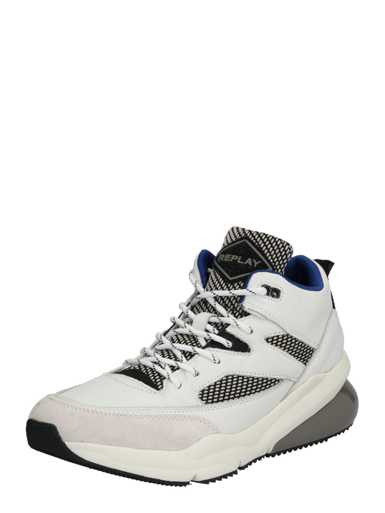 REPLAY Sneaker low 'HARDSTROW'  gri / offwhite