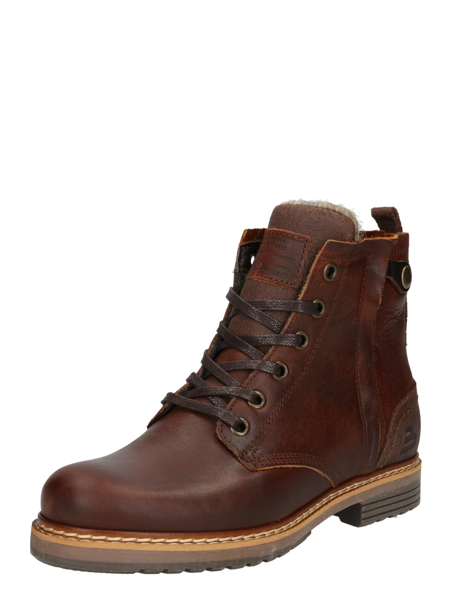 BULLBOXER Suvarstomieji kulkšnis dengiantys batai tamsiai ruda