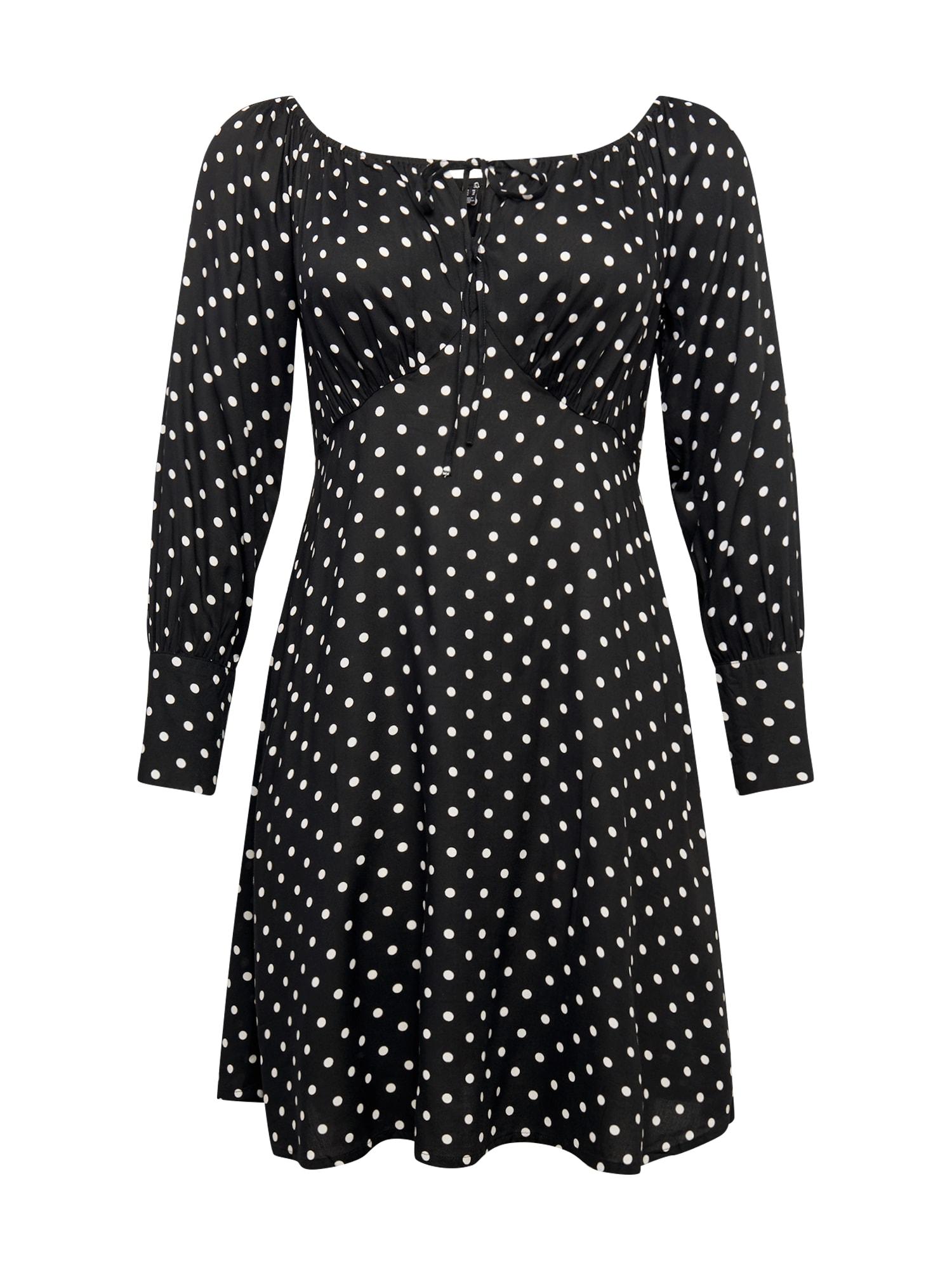 Vero Moda Curve Palaidinės tipo suknelė juoda / balta