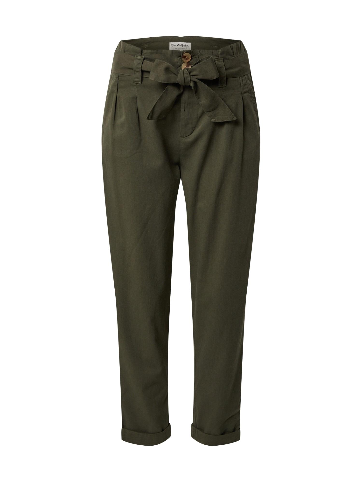 Miss Selfridge Klostuotos kelnės rusvai žalia